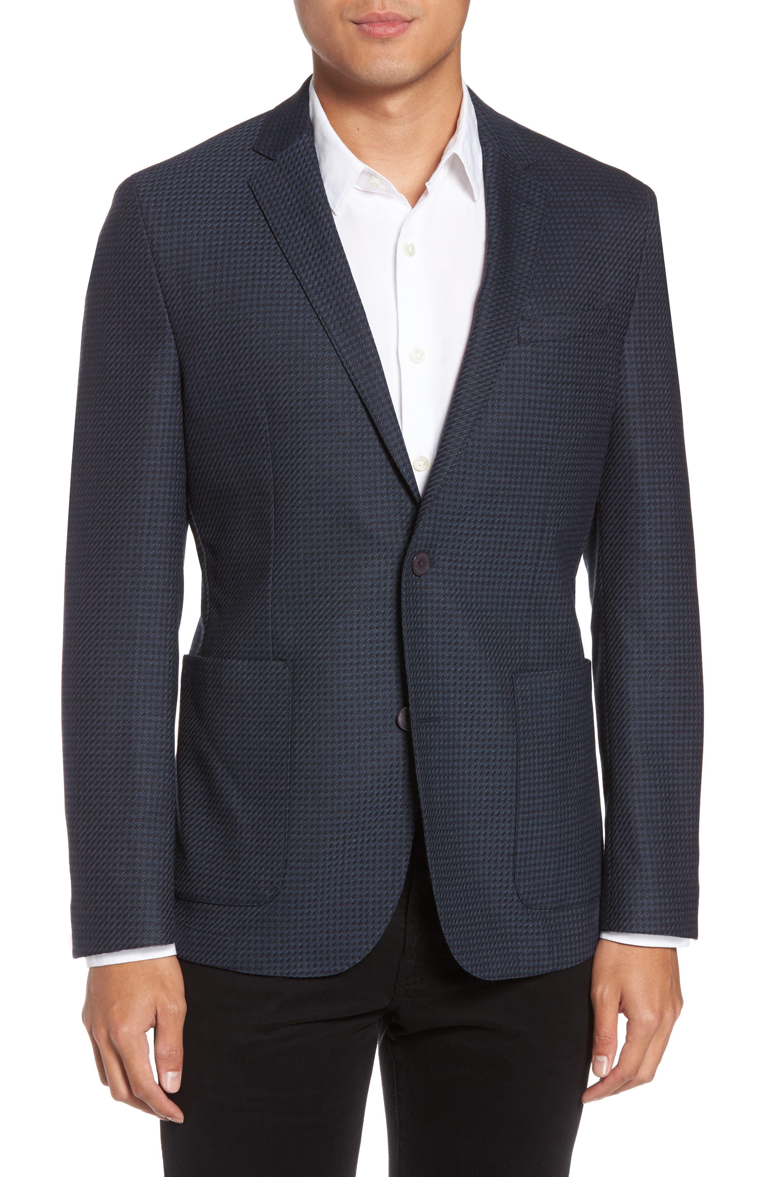 Main Image - Vince Camuto Digital Houndstooth Wool Blend Sport Coat