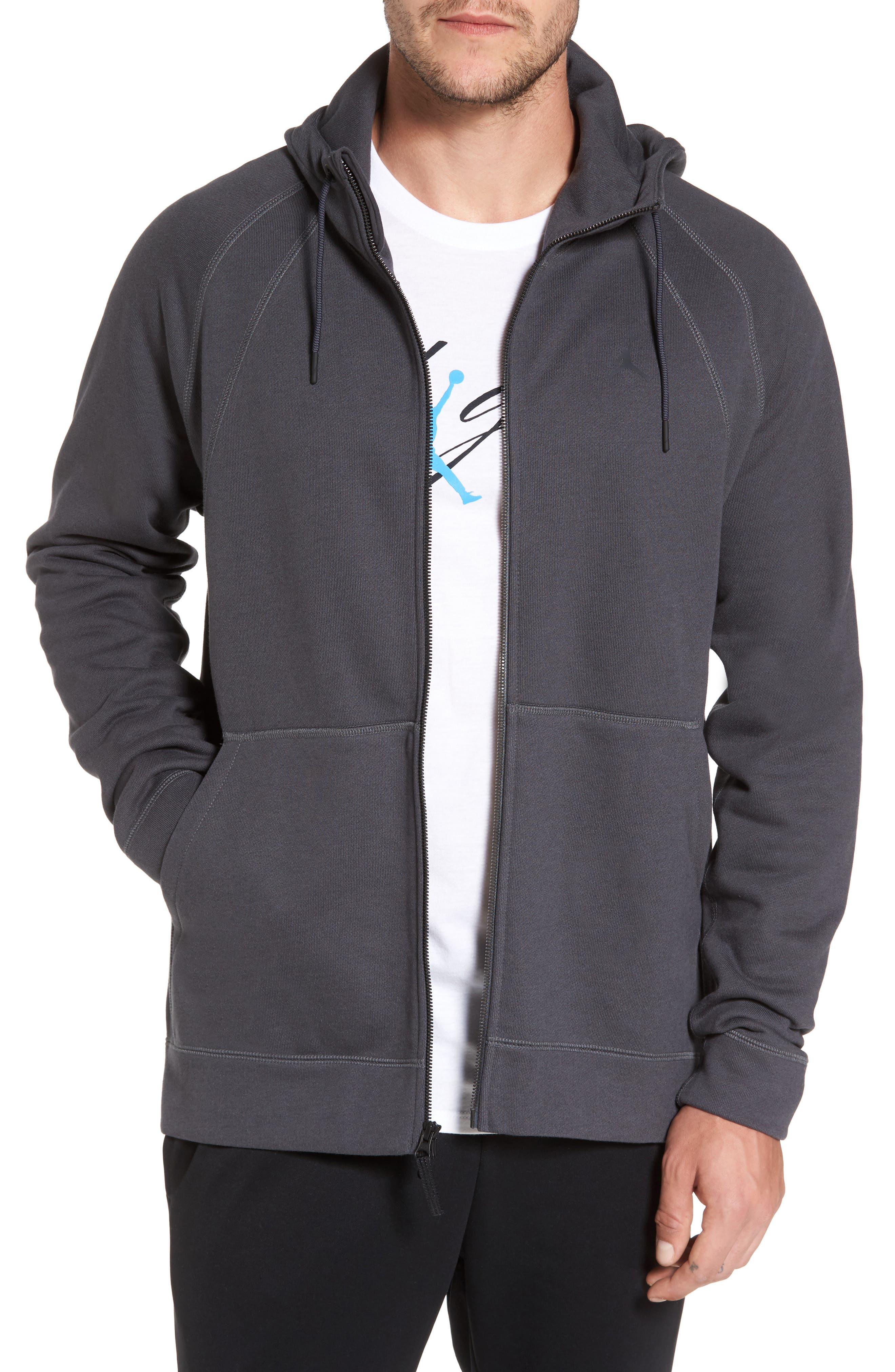 Sportswear Wings Full Zip Jacket,                         Main,                         color, Anthracite/ Black