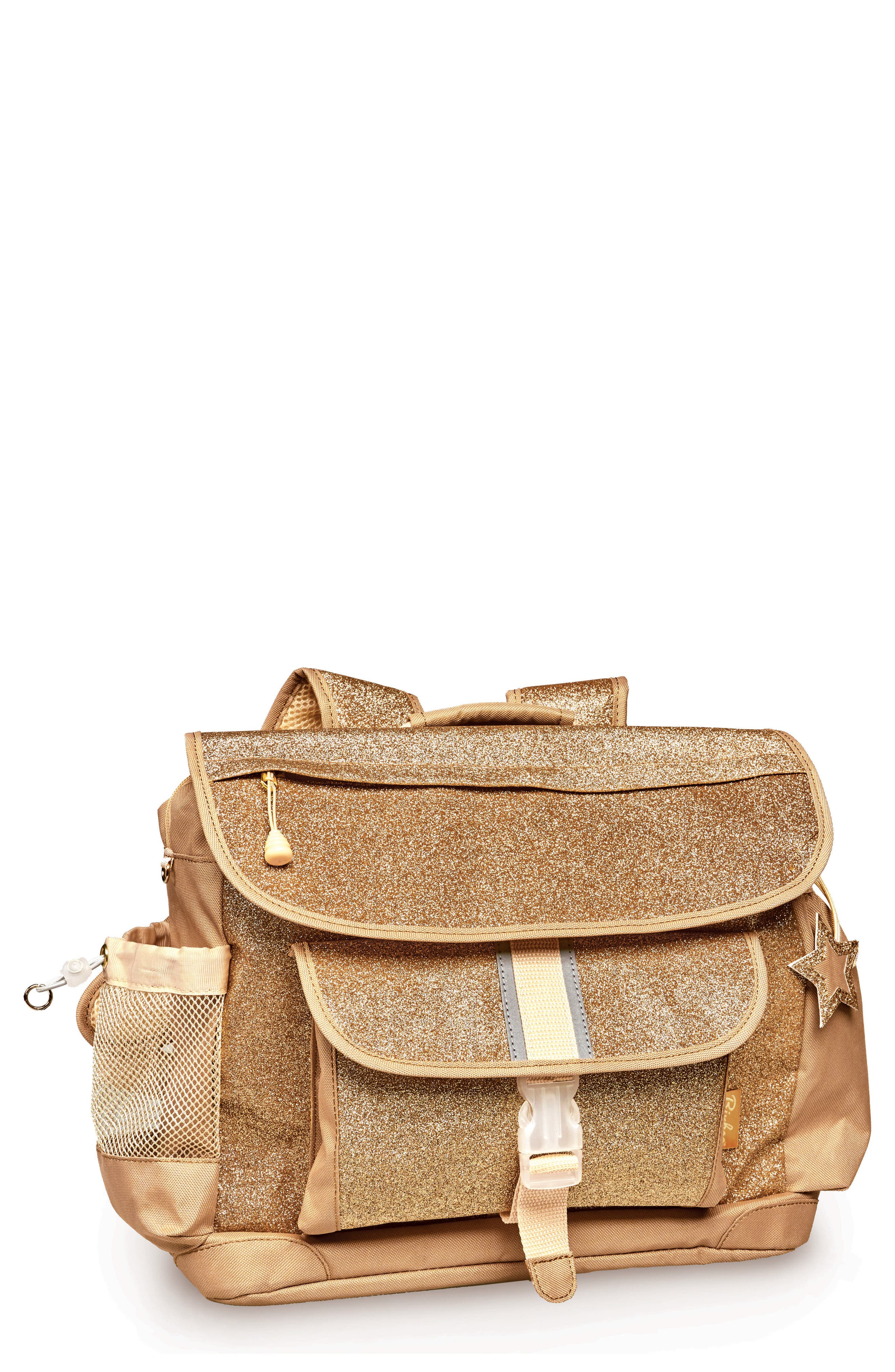 Sparkalicious Water Resistant Backpack,                         Main,                         color, Gold