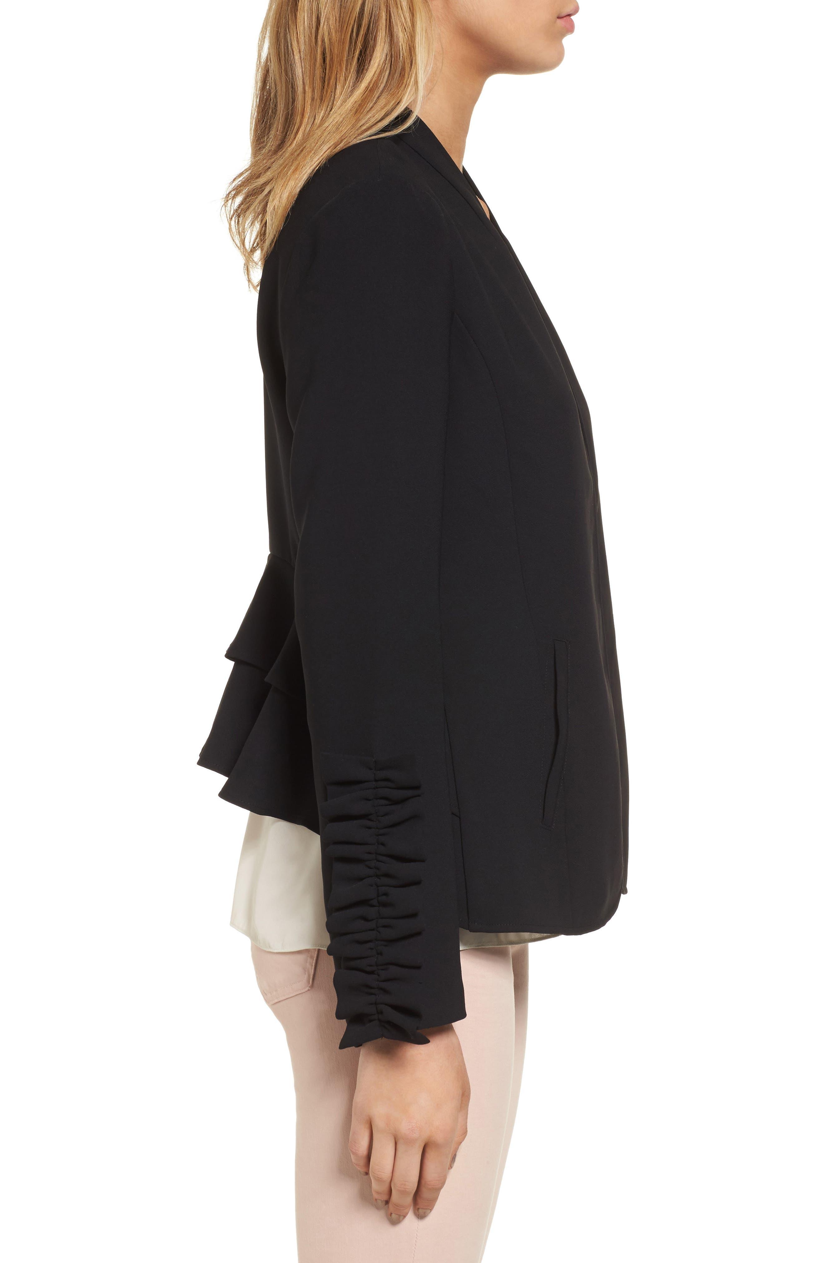 Alternate Image 3  - Chelsea28 Ruffle Sleeve Blazer