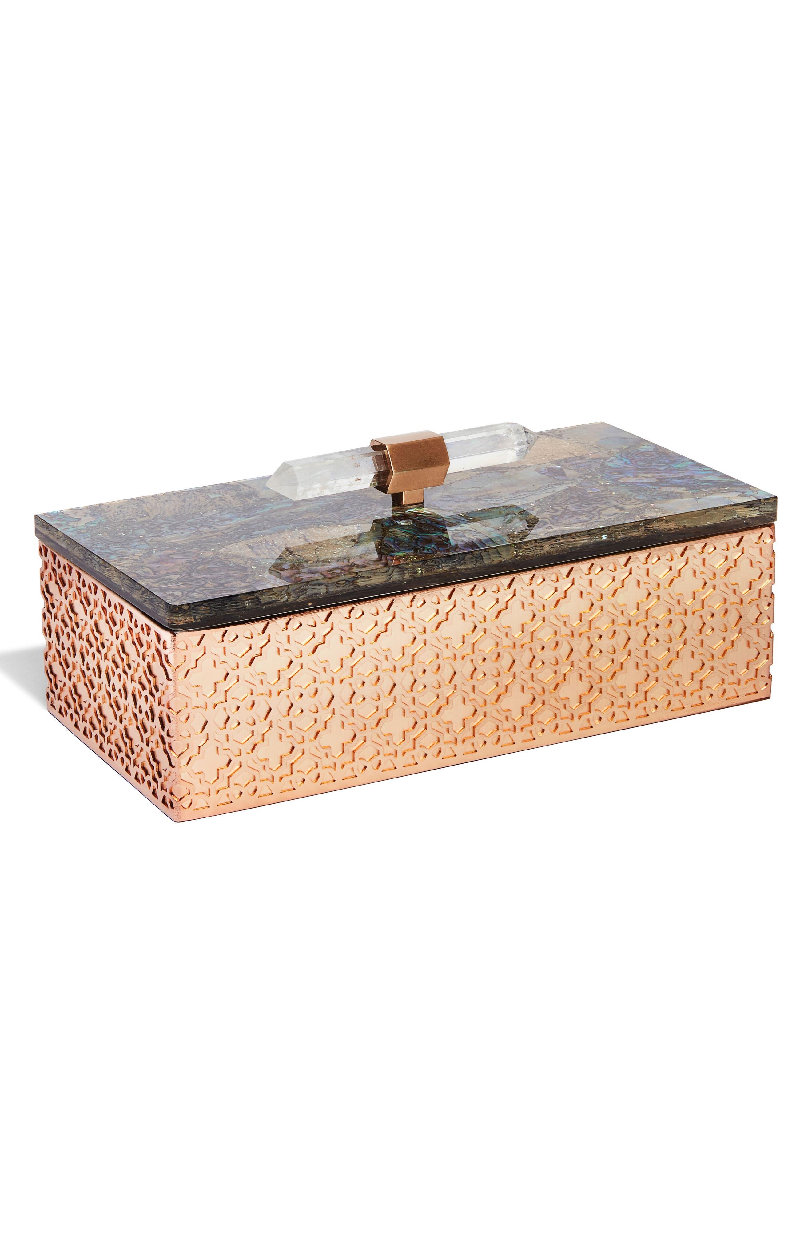 Main Image - Kendra Scott Rectangle Filigree Box