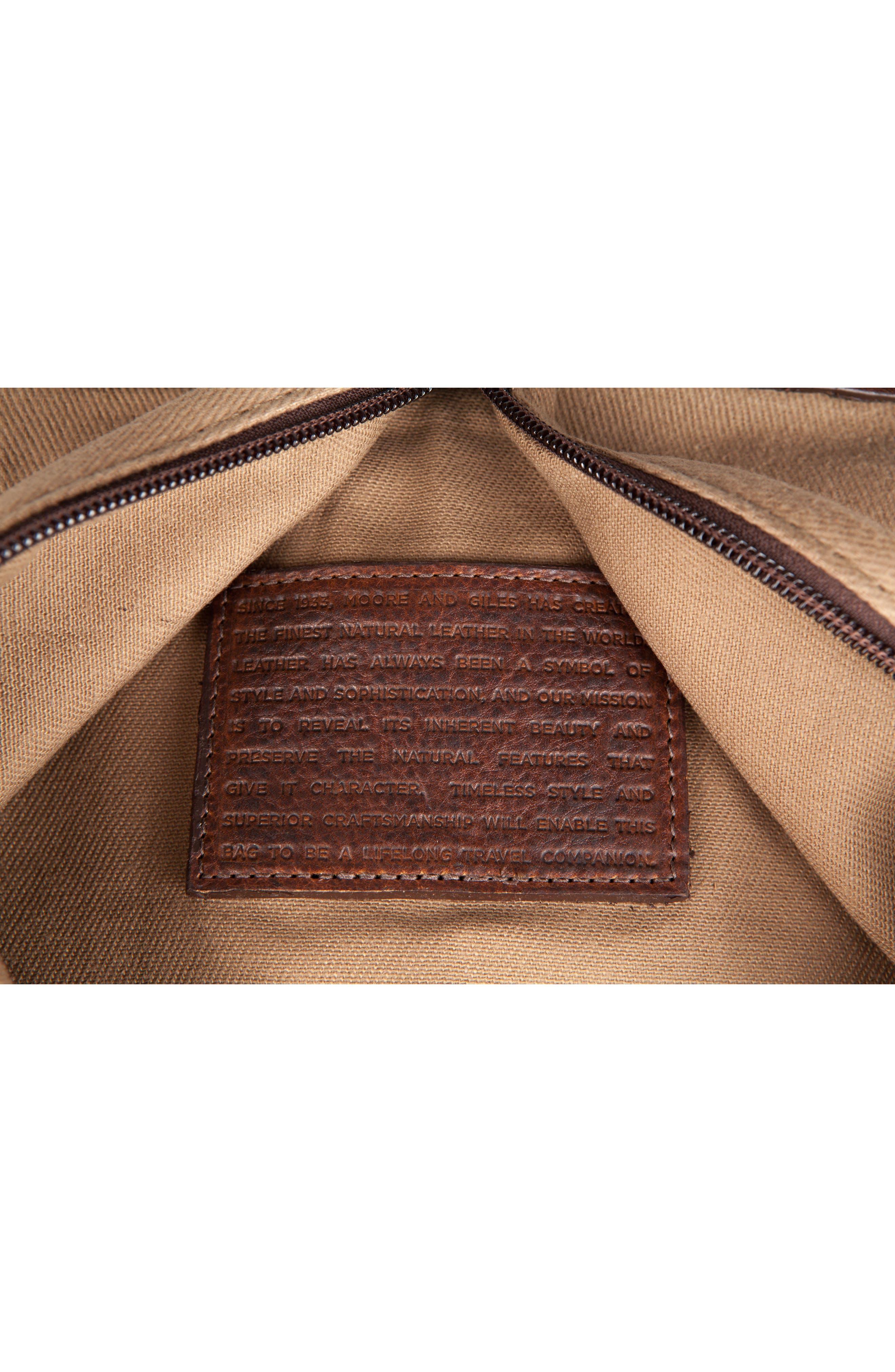Holton Garment Bag,                             Alternate thumbnail 5, color,                             Brushed Tan Twill