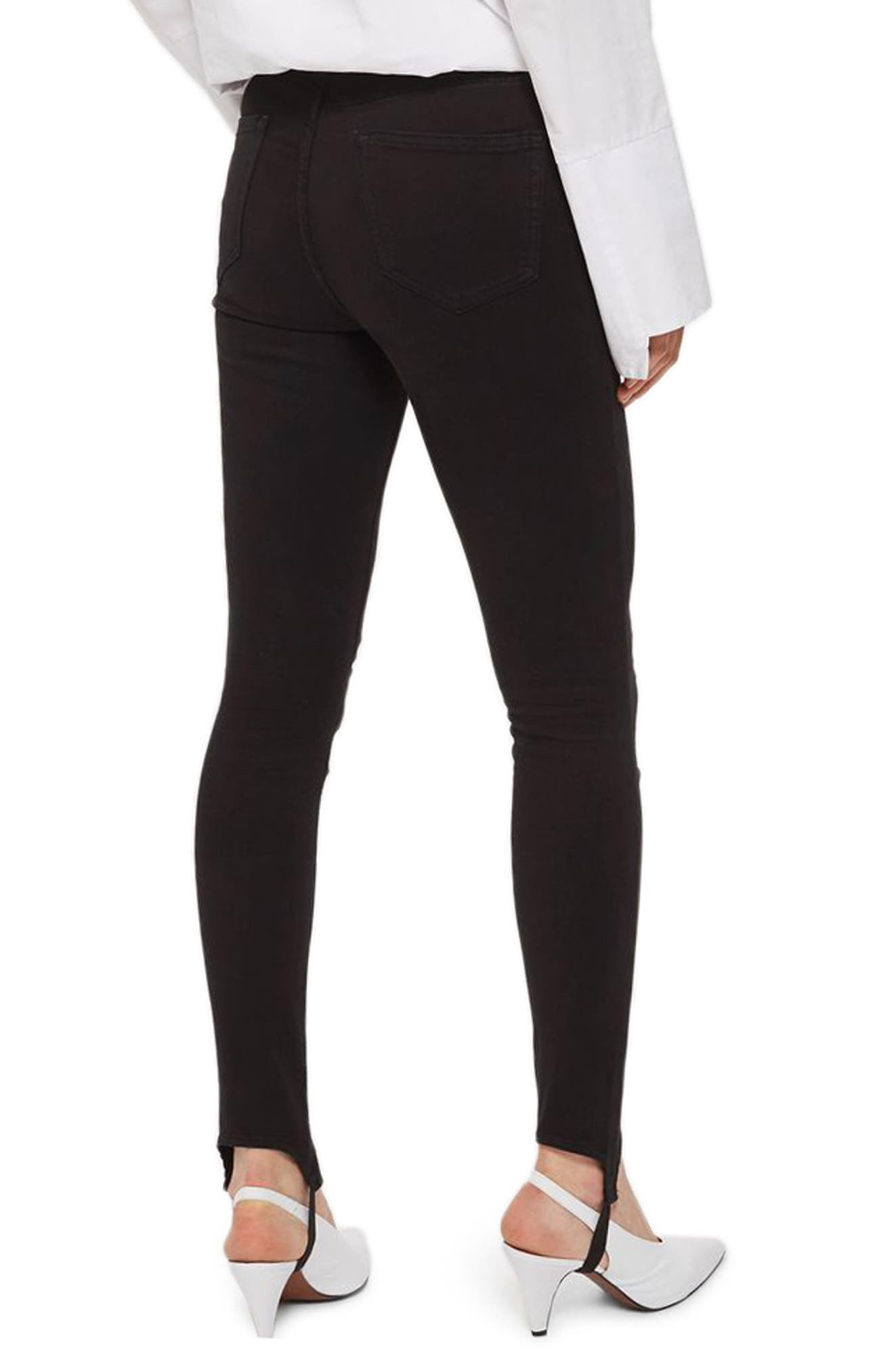 Jamie Stirrup Skinny Jeans,                             Alternate thumbnail 2, color,                             Black