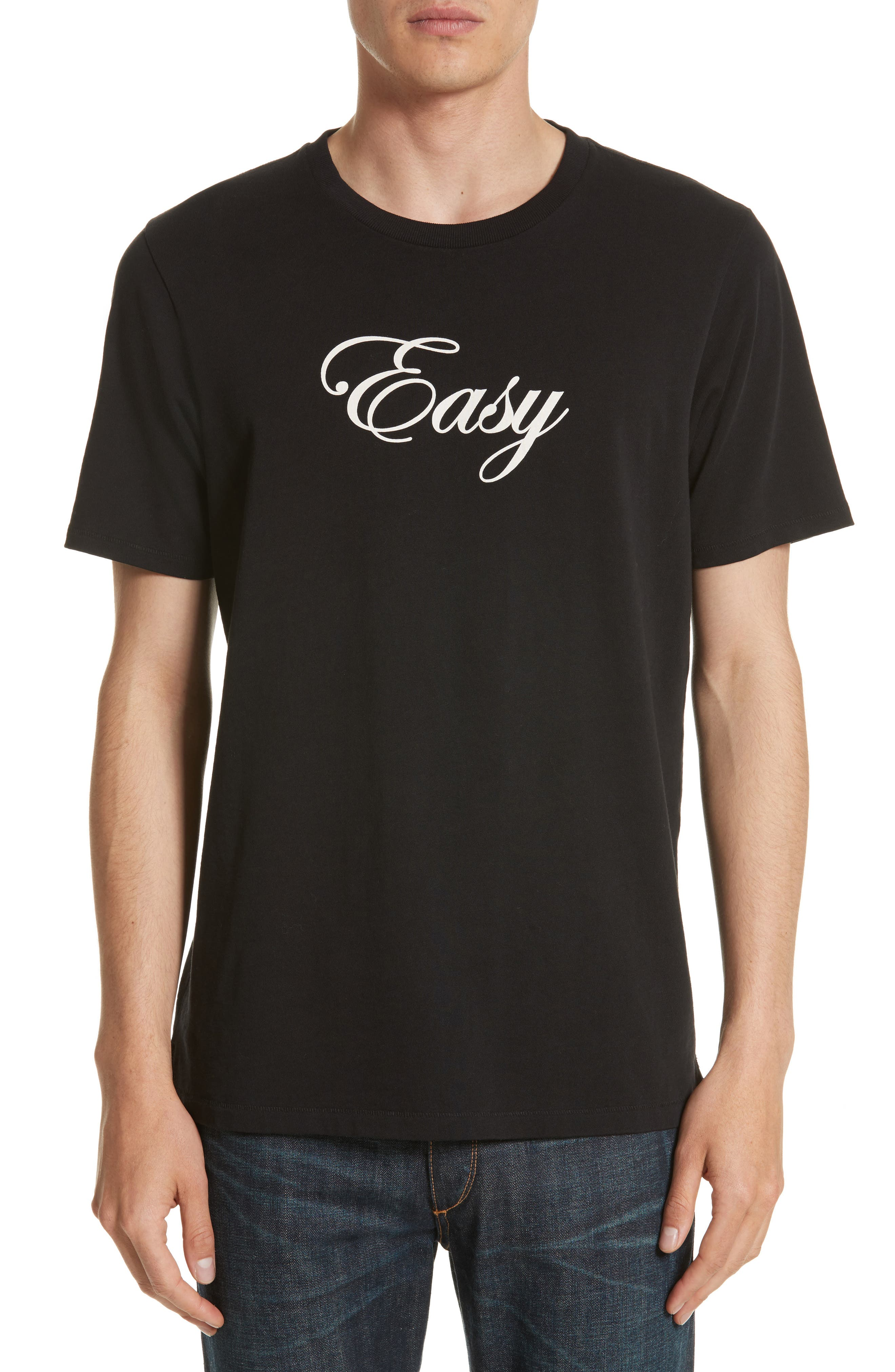 Easy Graphic T-Shirt,                         Main,                         color, Black