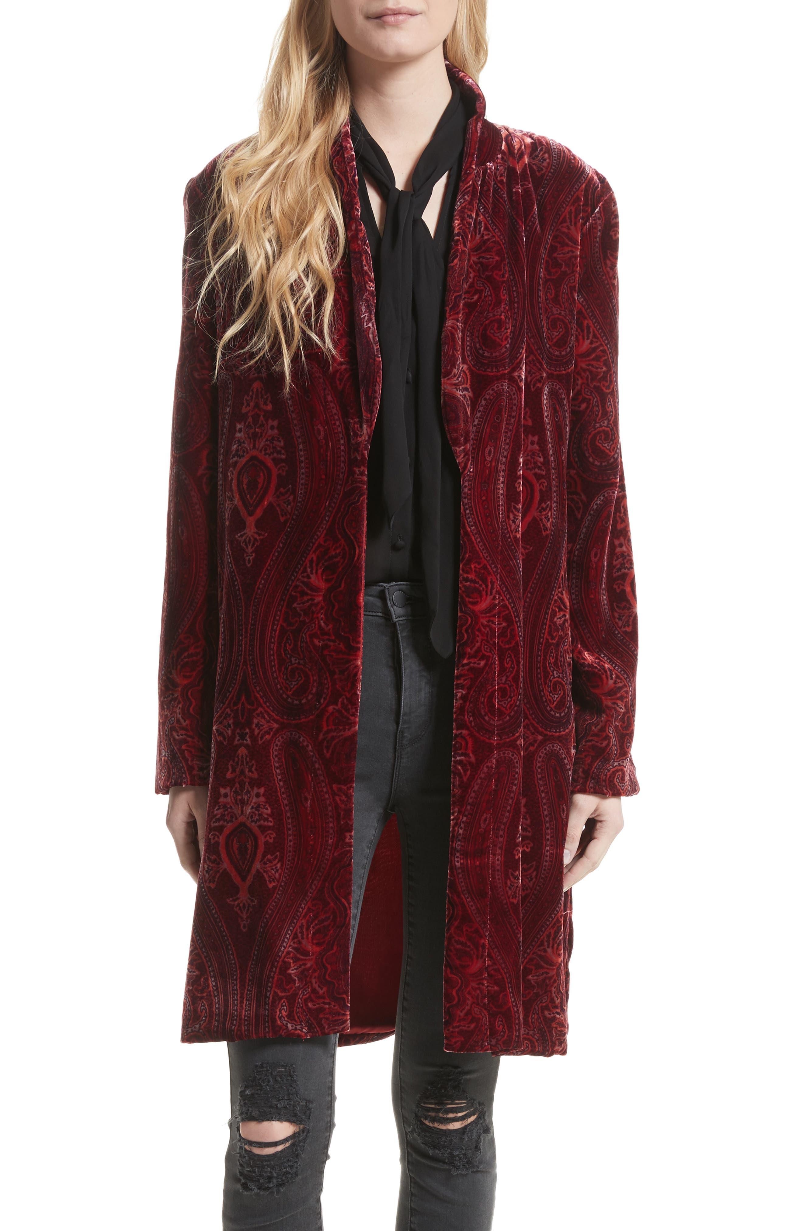 L'AGENCE Cressida Velvet Robe Jacket