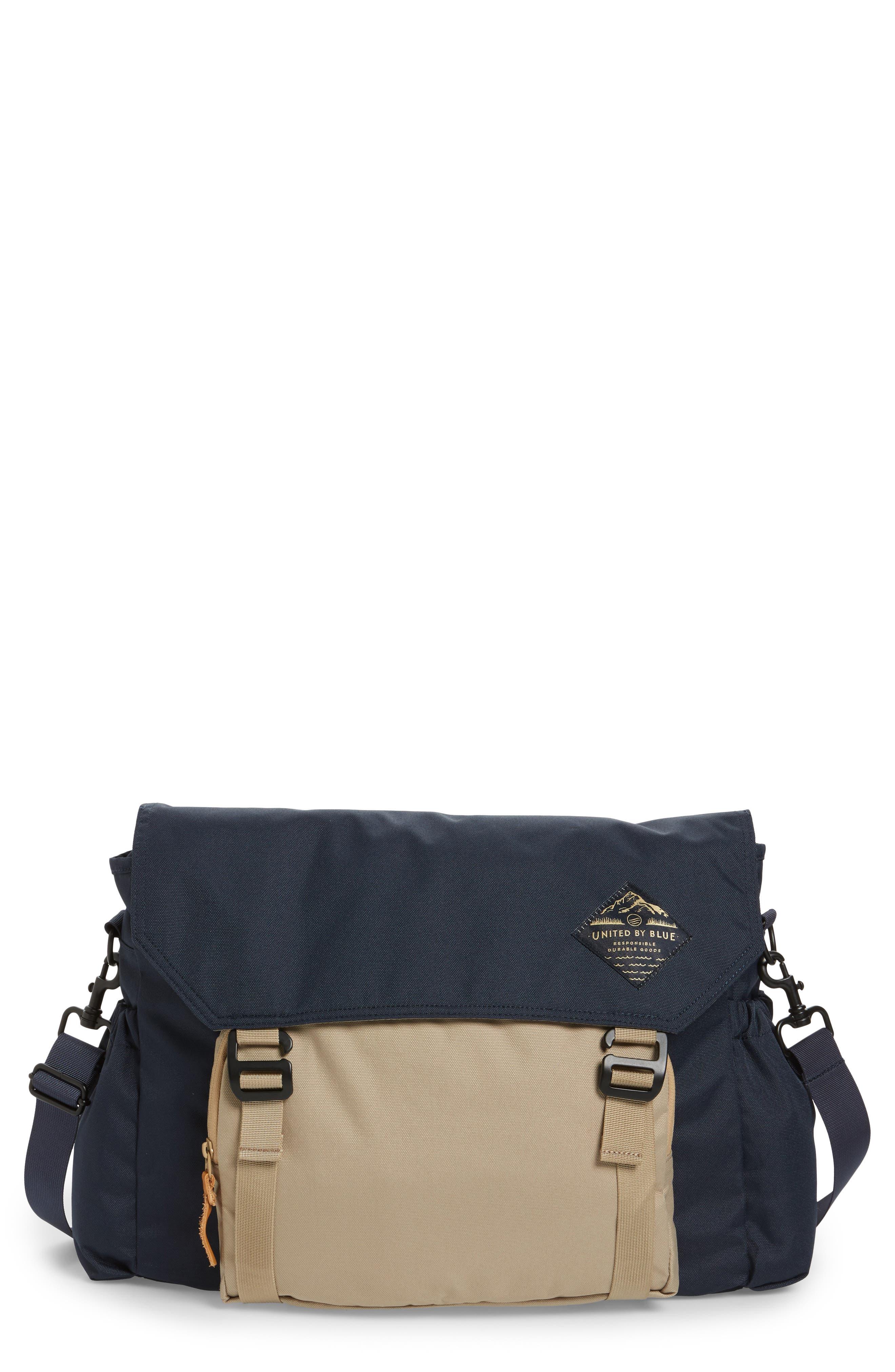 Crossridge Messenger Bag,                         Main,                         color, Navy/ Tan