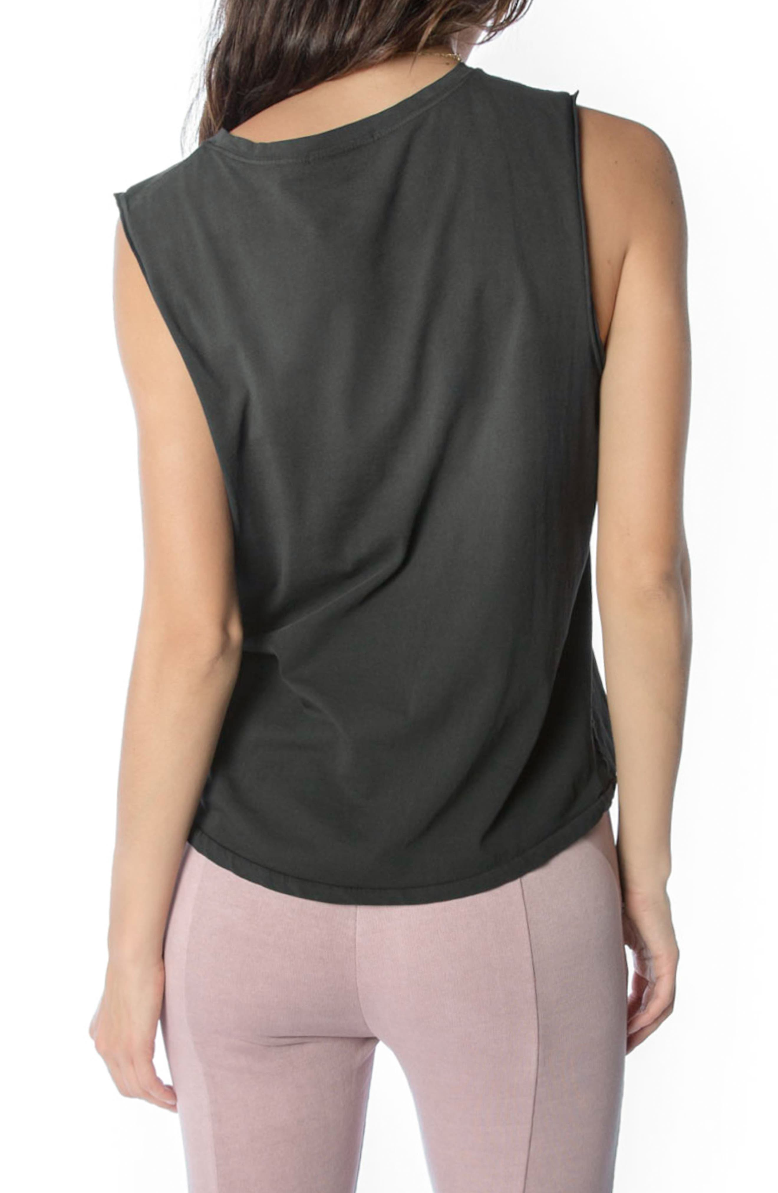 Muscle Tank,                             Alternate thumbnail 2, color,                             Faded Black