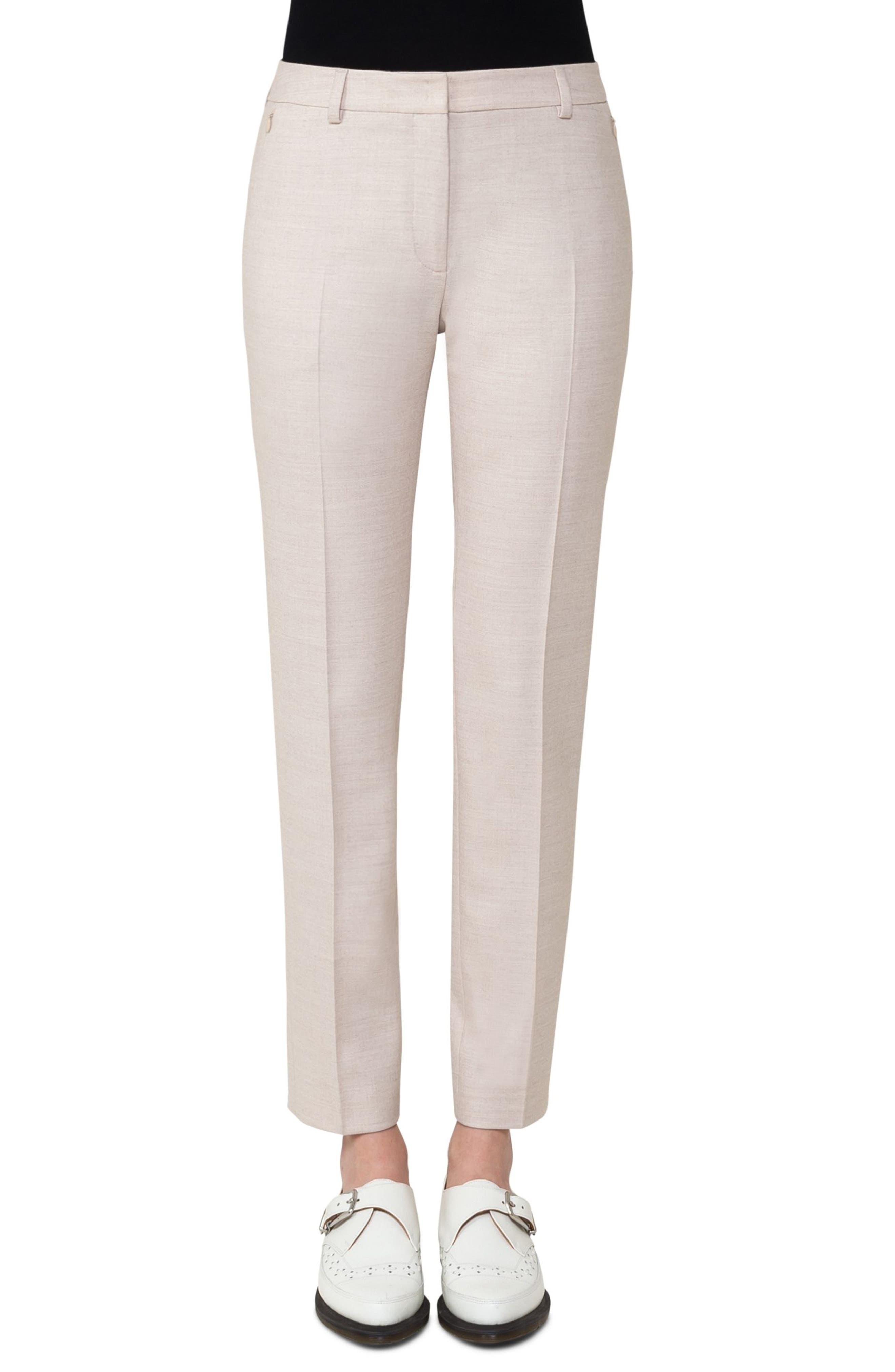 Akris Stretch Wool Flannel Slim Pants