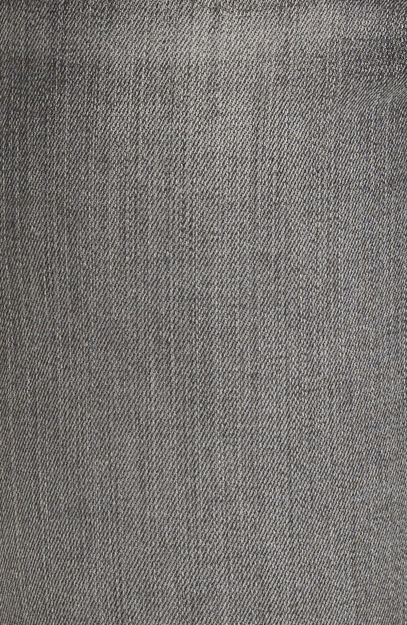 Le High Shredded Skinny Jeans,                             Alternate thumbnail 6, color,                             Berwick