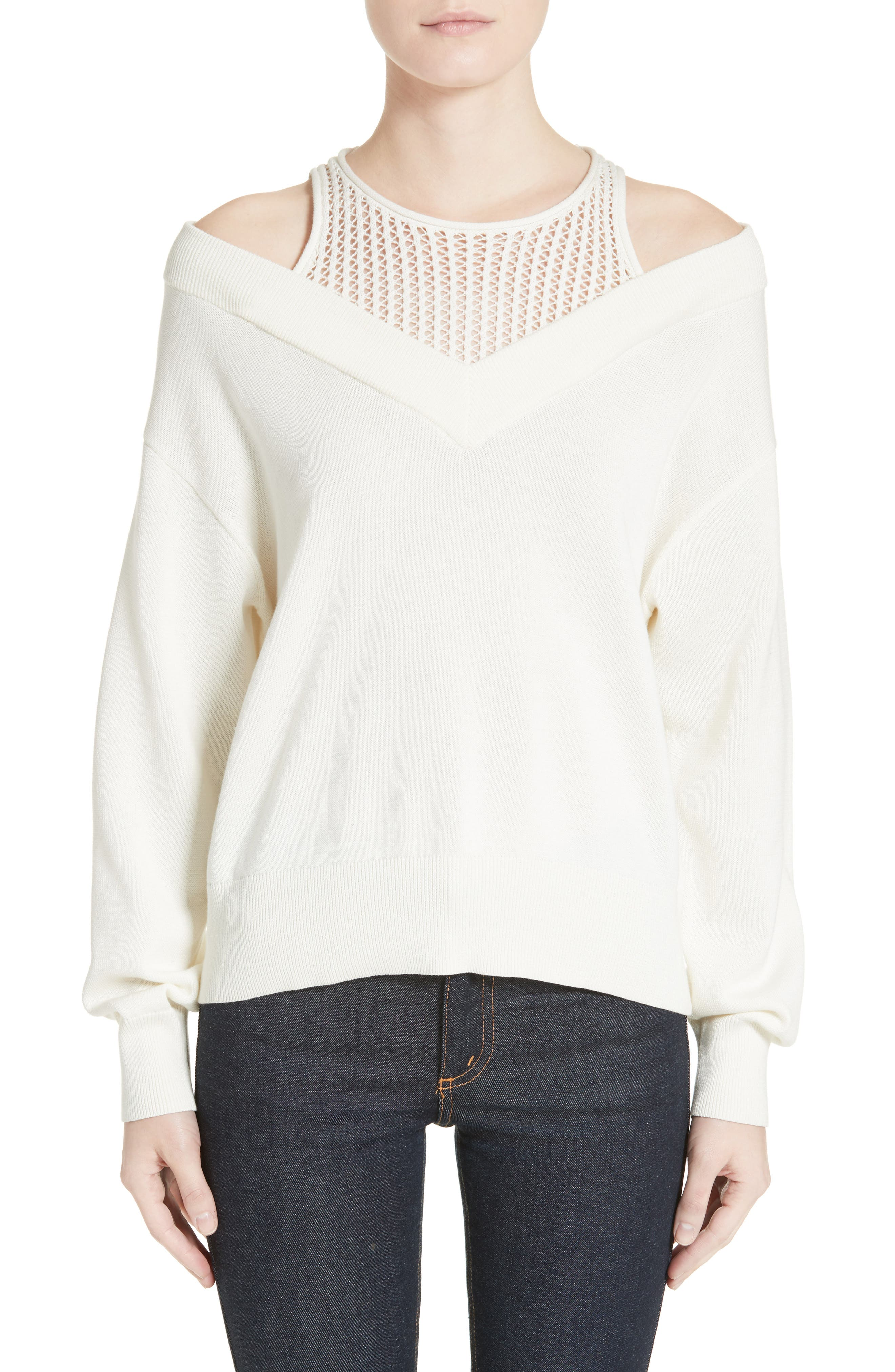 T by Alexander Wang Cotton Blend Sweater with Inner Tank