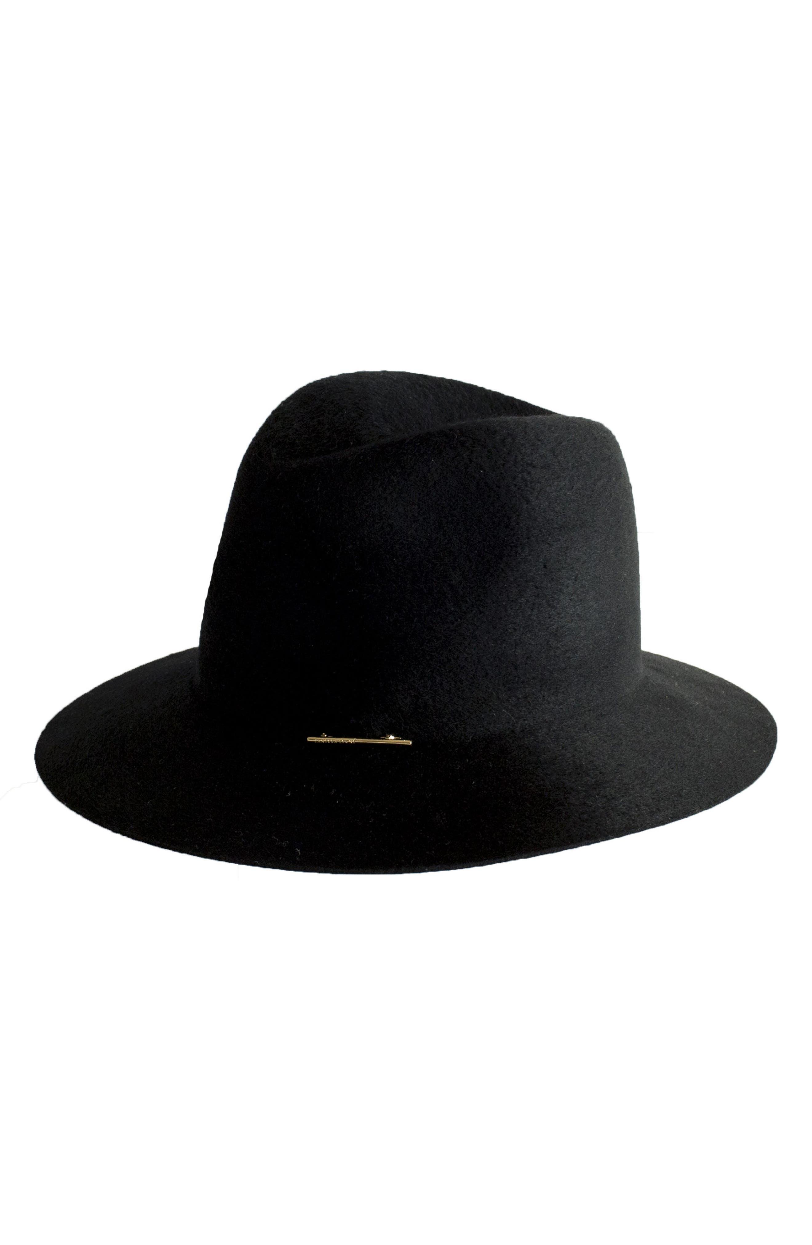 Lane Wool Hat,                         Main,                         color, Black