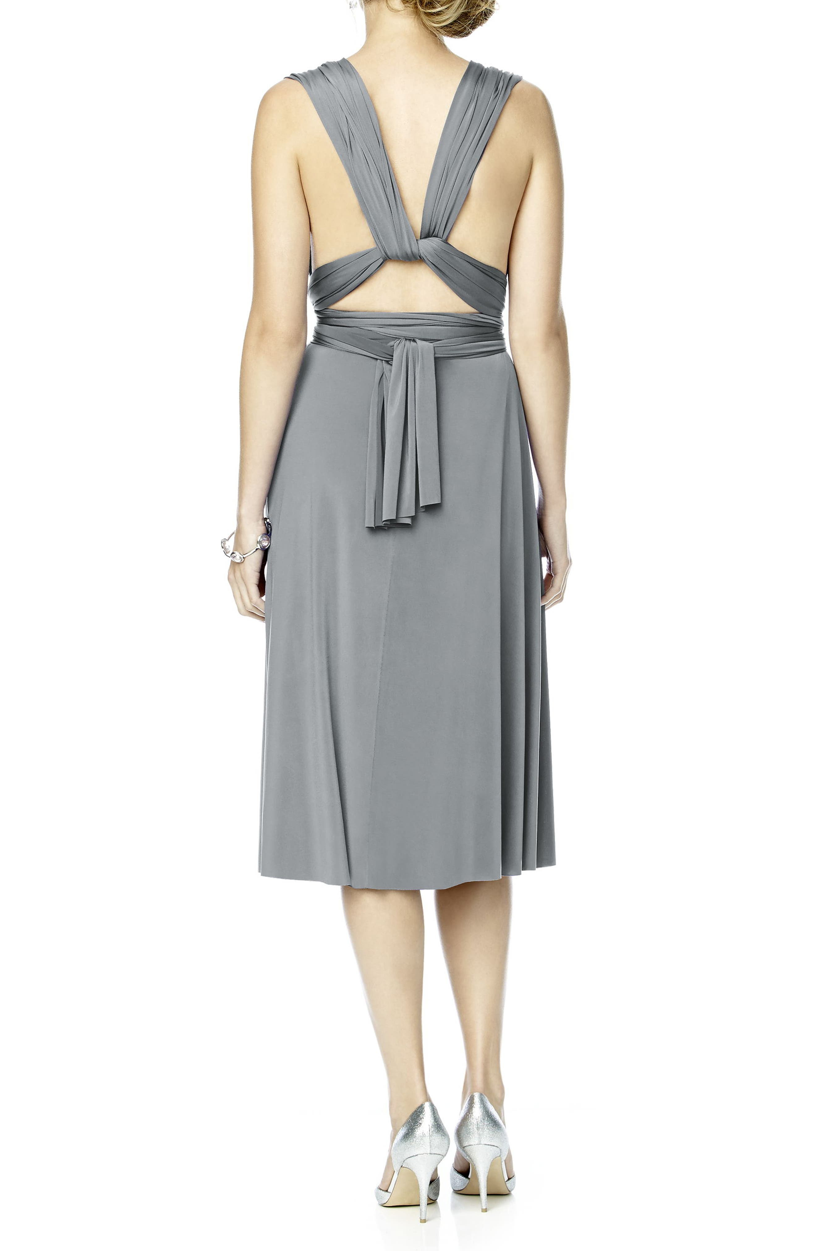 Alternate Image 3  - Dessy Collection Convertible Wrap Tie Surplice Jersey Dress