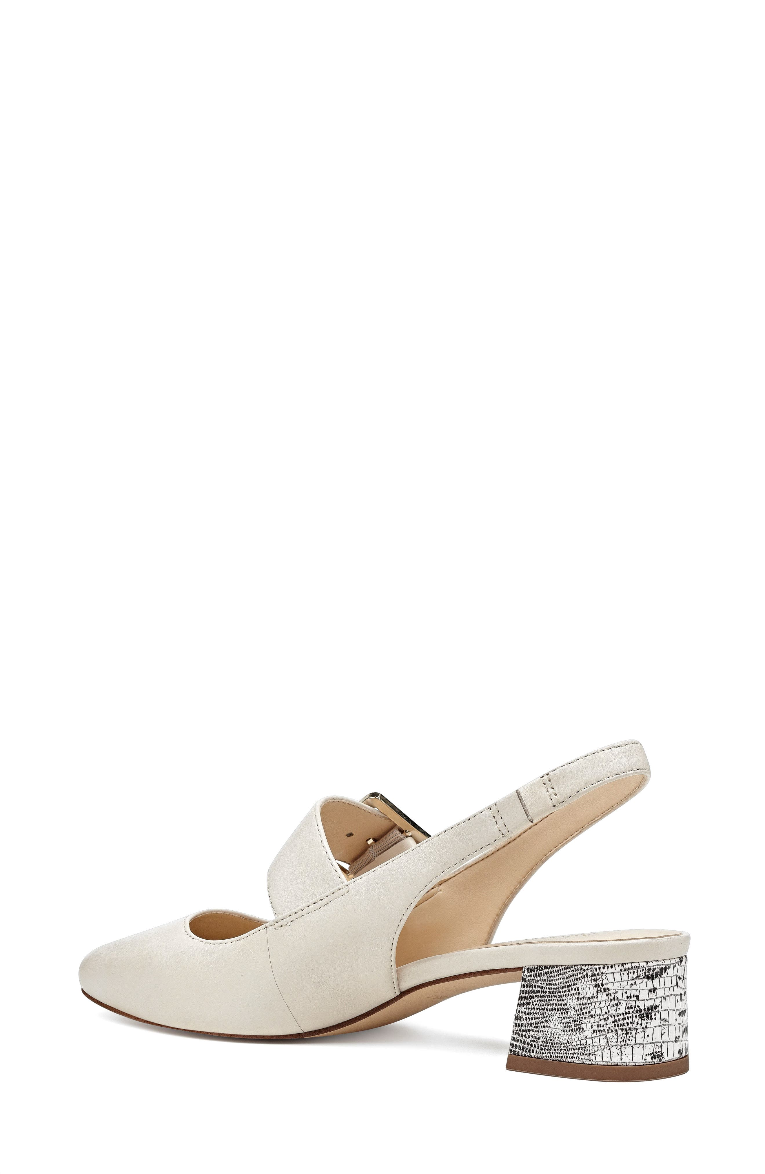 Wendor Slingback Pump,                             Alternate thumbnail 2, color,                             Off White Leather
