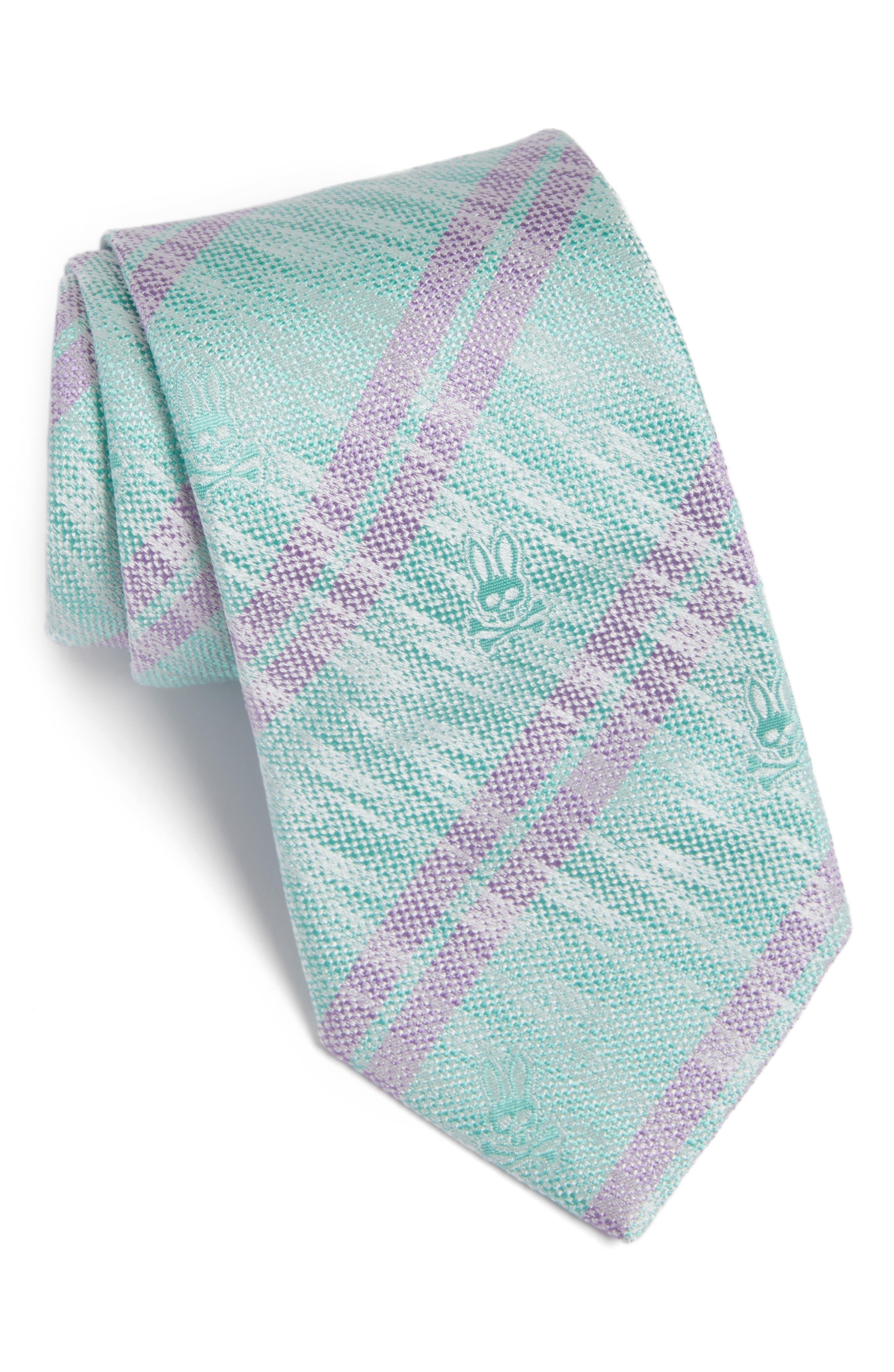 Double Stripe Silk Tie,                             Main thumbnail 1, color,                             Glass