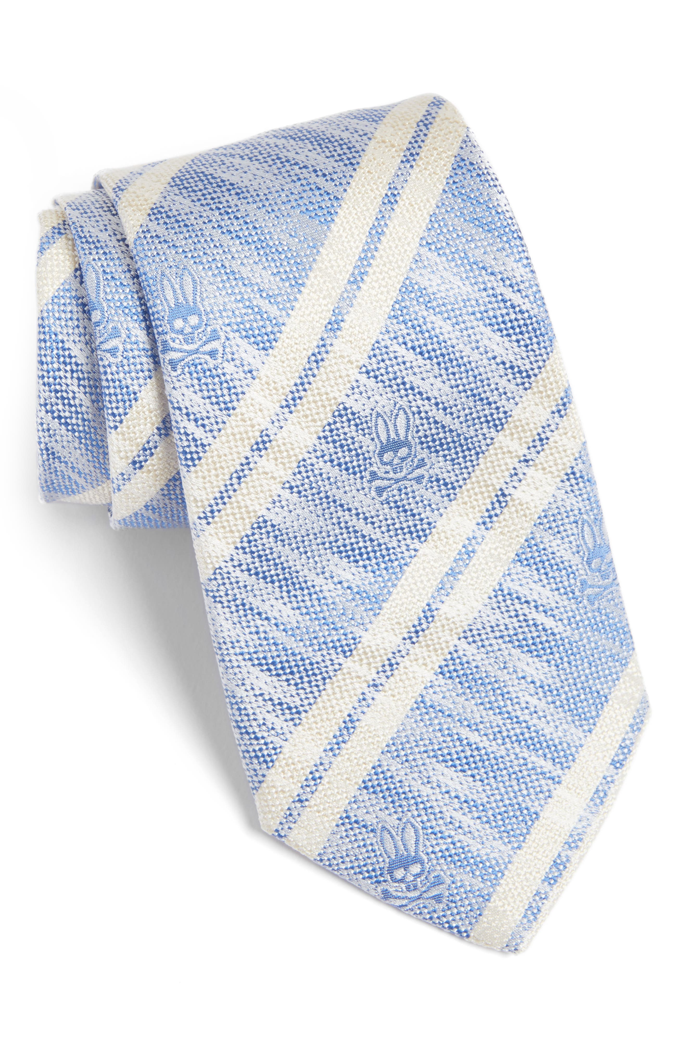 Main Image - Psycho Bunny Double Stripe Silk Tie