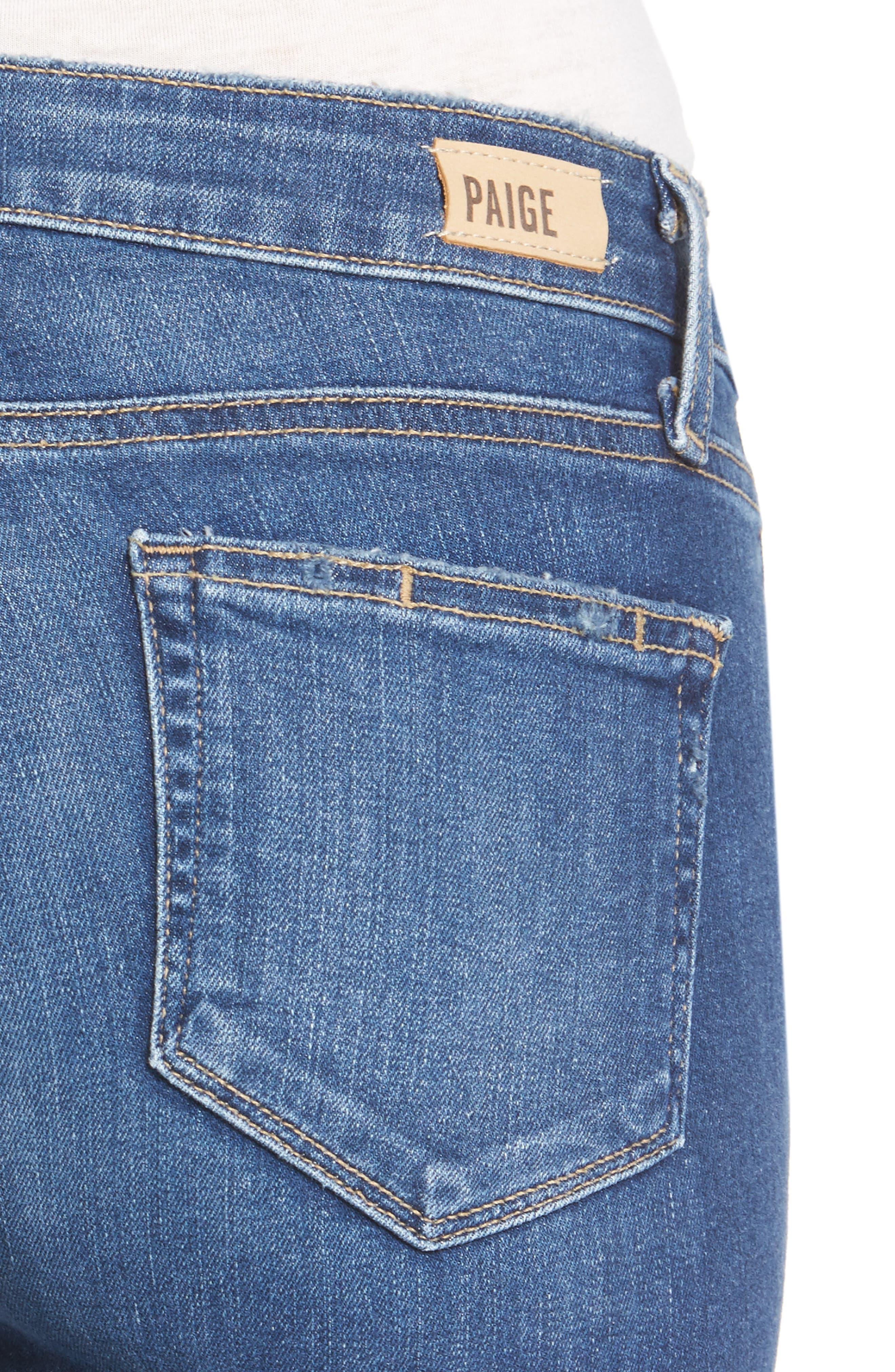 Alternate Image 4  - PAIGE Verdugo Ankle Ultra Skinny Jeans (Bali)