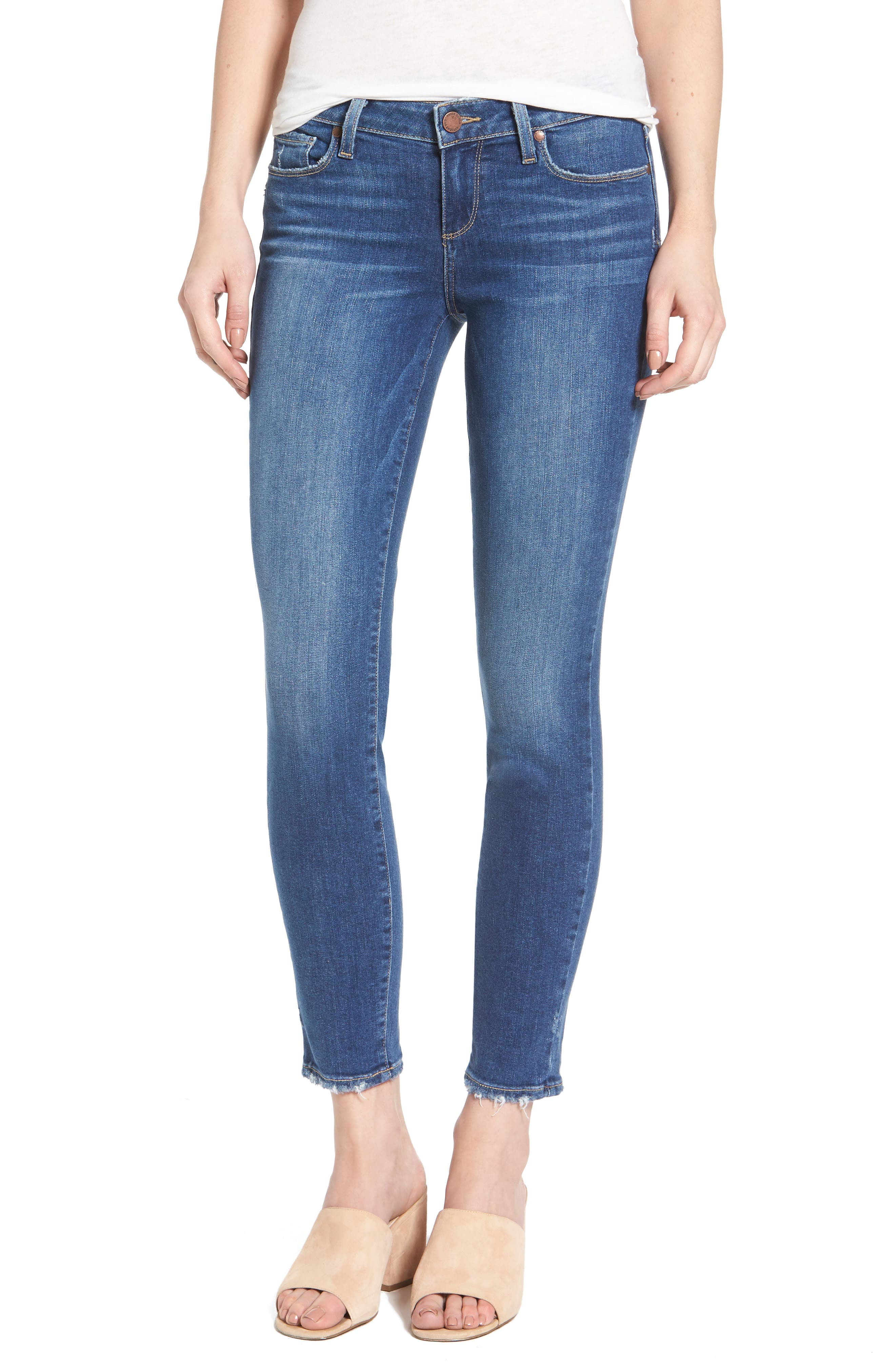 Alternate Image 1 Selected - PAIGE Verdugo Ankle Ultra Skinny Jeans (Bali)