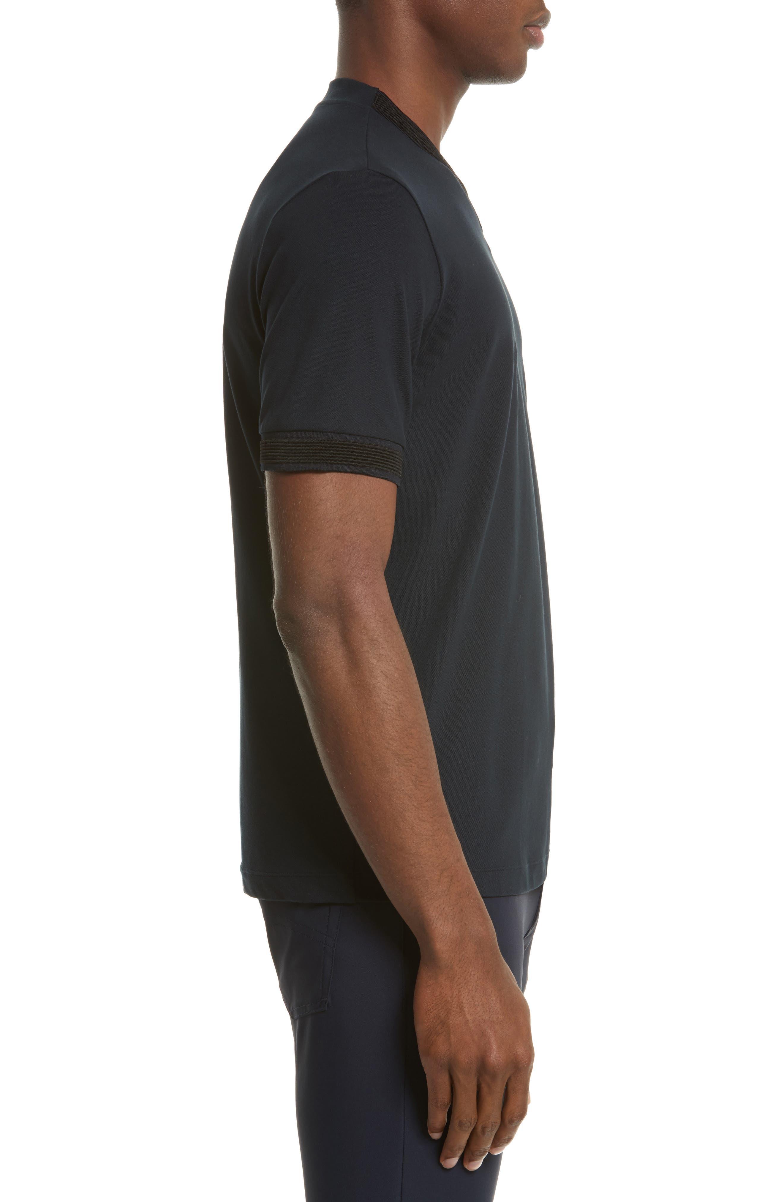 Alternate Image 3  - Armani Collezioni Ribbed V-Neck T-Shirt