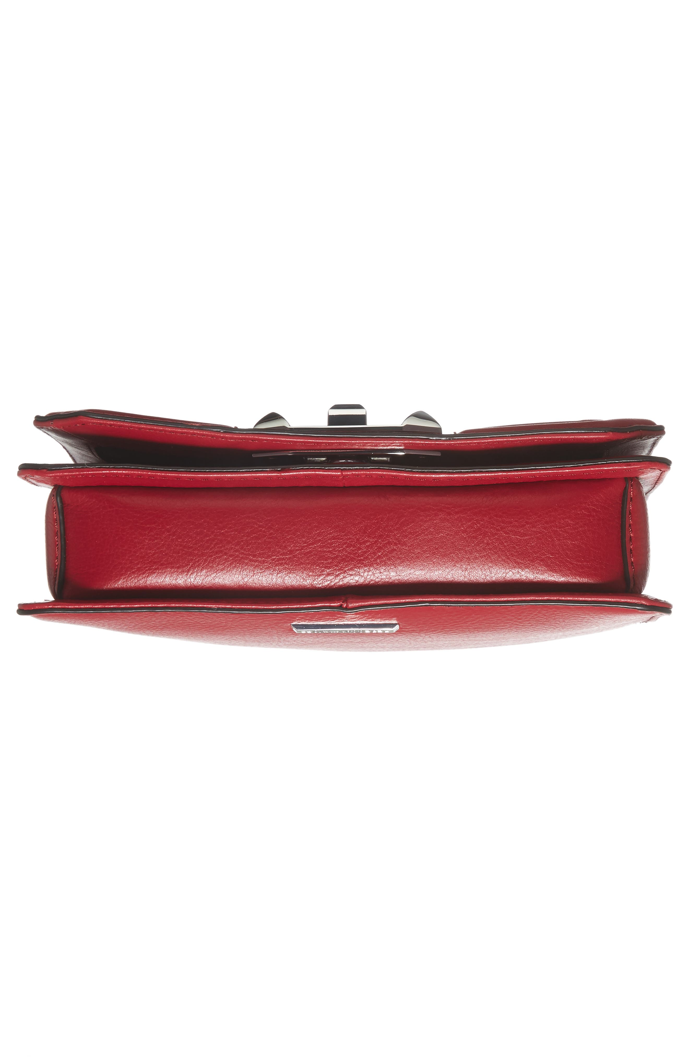 Small Love Leather Crossbody Bag,                             Alternate thumbnail 4, color,                             Beet/ Silver Hardware