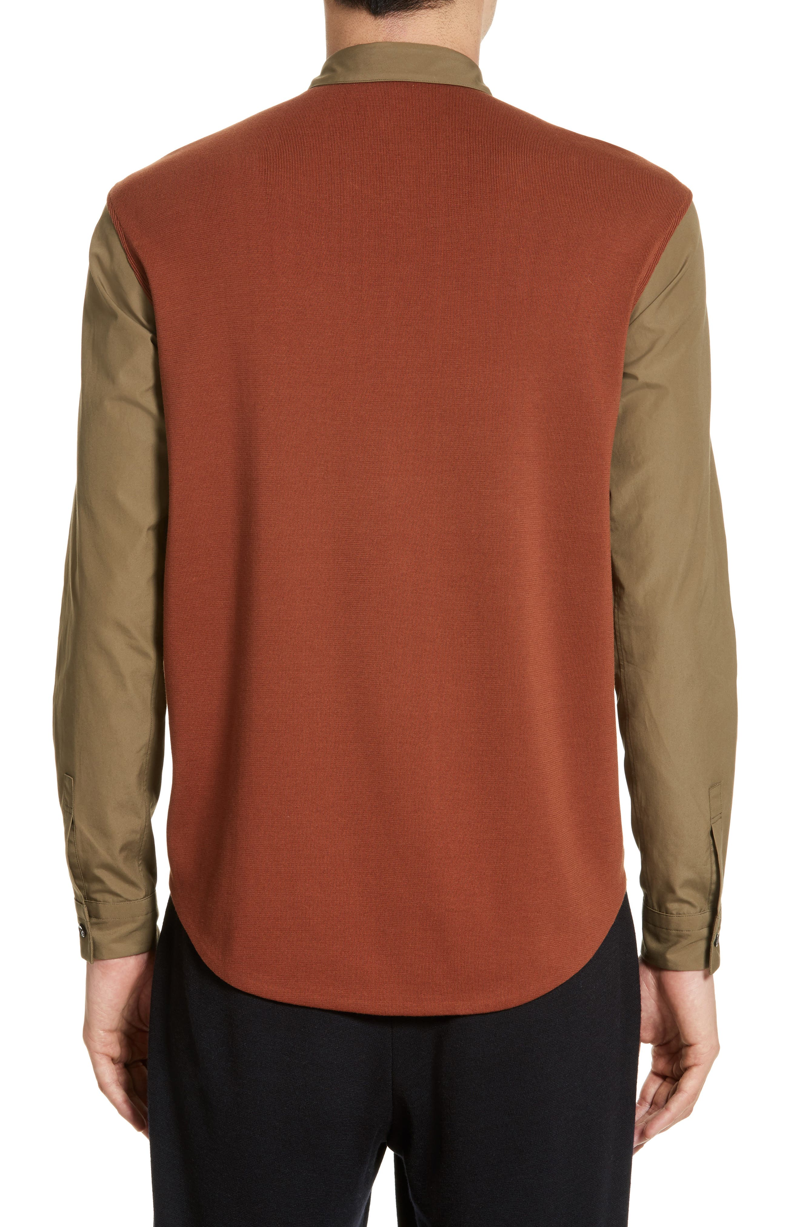 Alternate Image 2  - Tomorrowland Tricot Colorblock Sport Shirt
