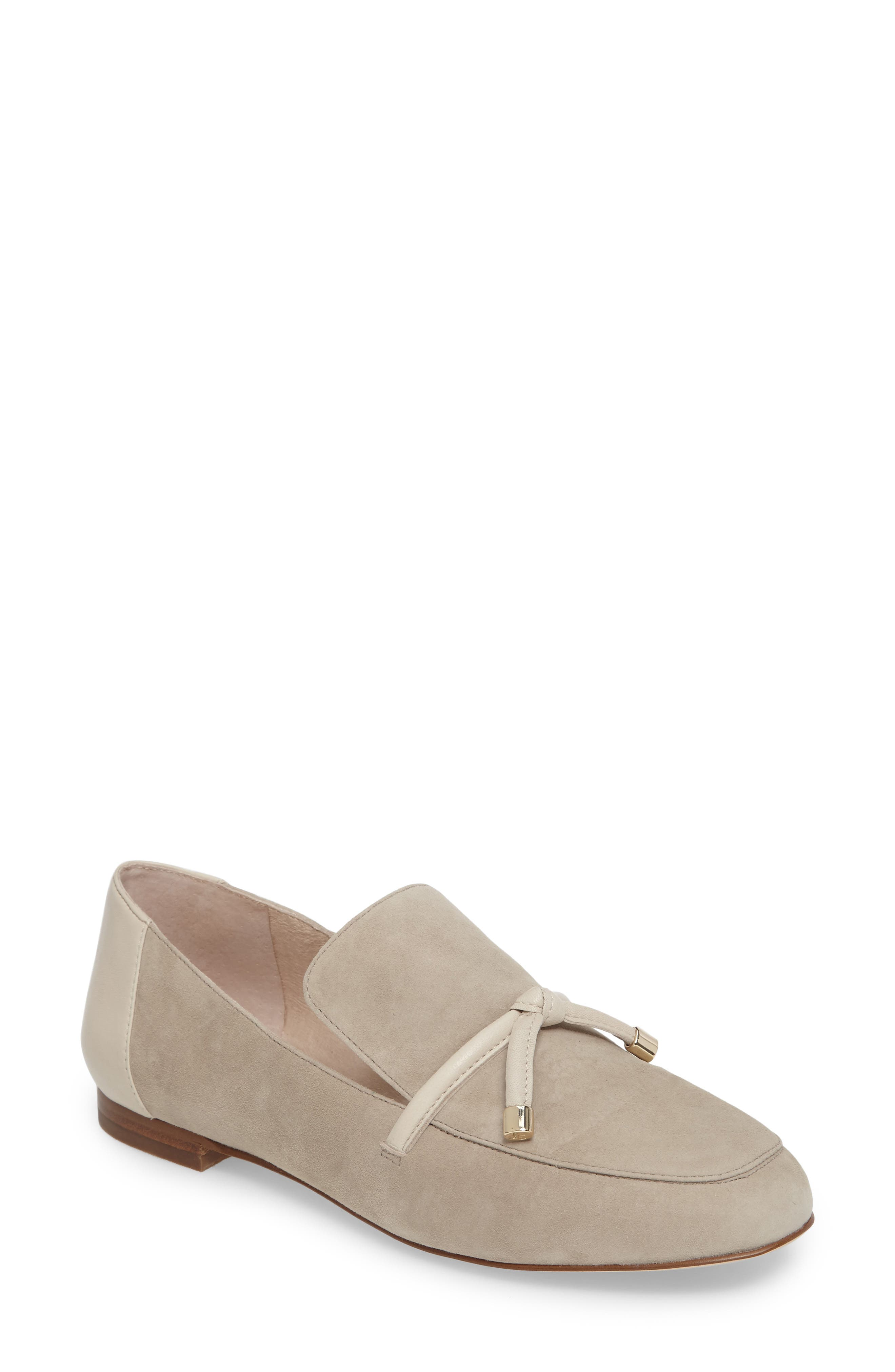 Faylen Loafer,                             Main thumbnail 1, color,                             Light Beige Suede