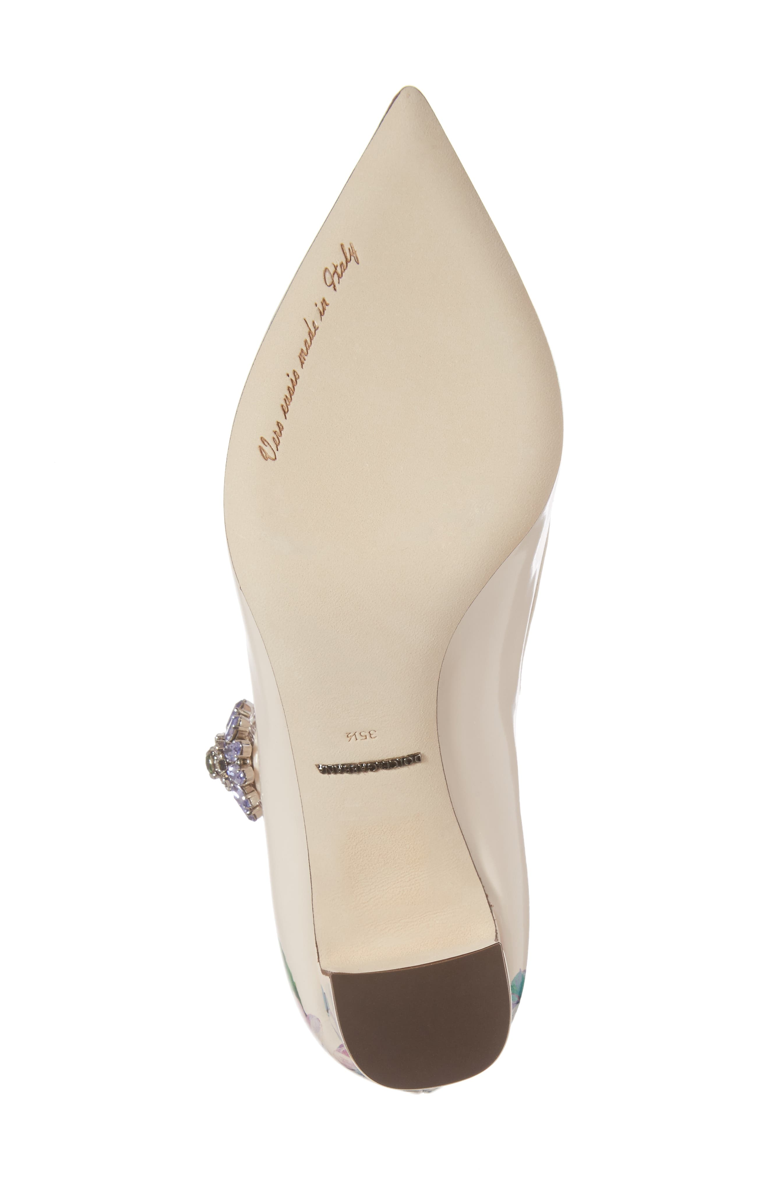 Hydrangea Mary Jane Pump,                             Alternate thumbnail 6, color,                             White Floral