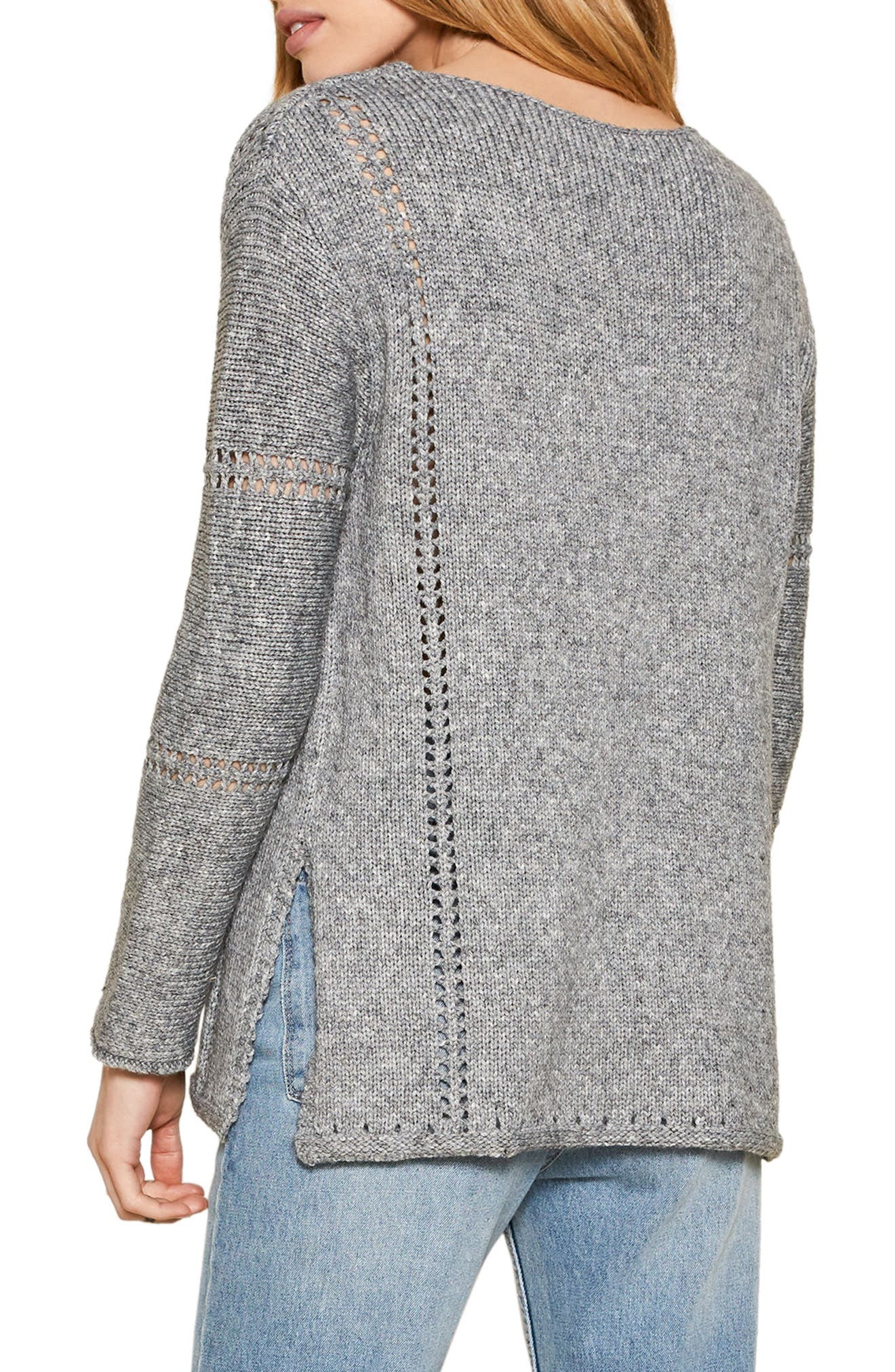 Rickerson Sweater,                             Alternate thumbnail 3, color,                             Heather Grey