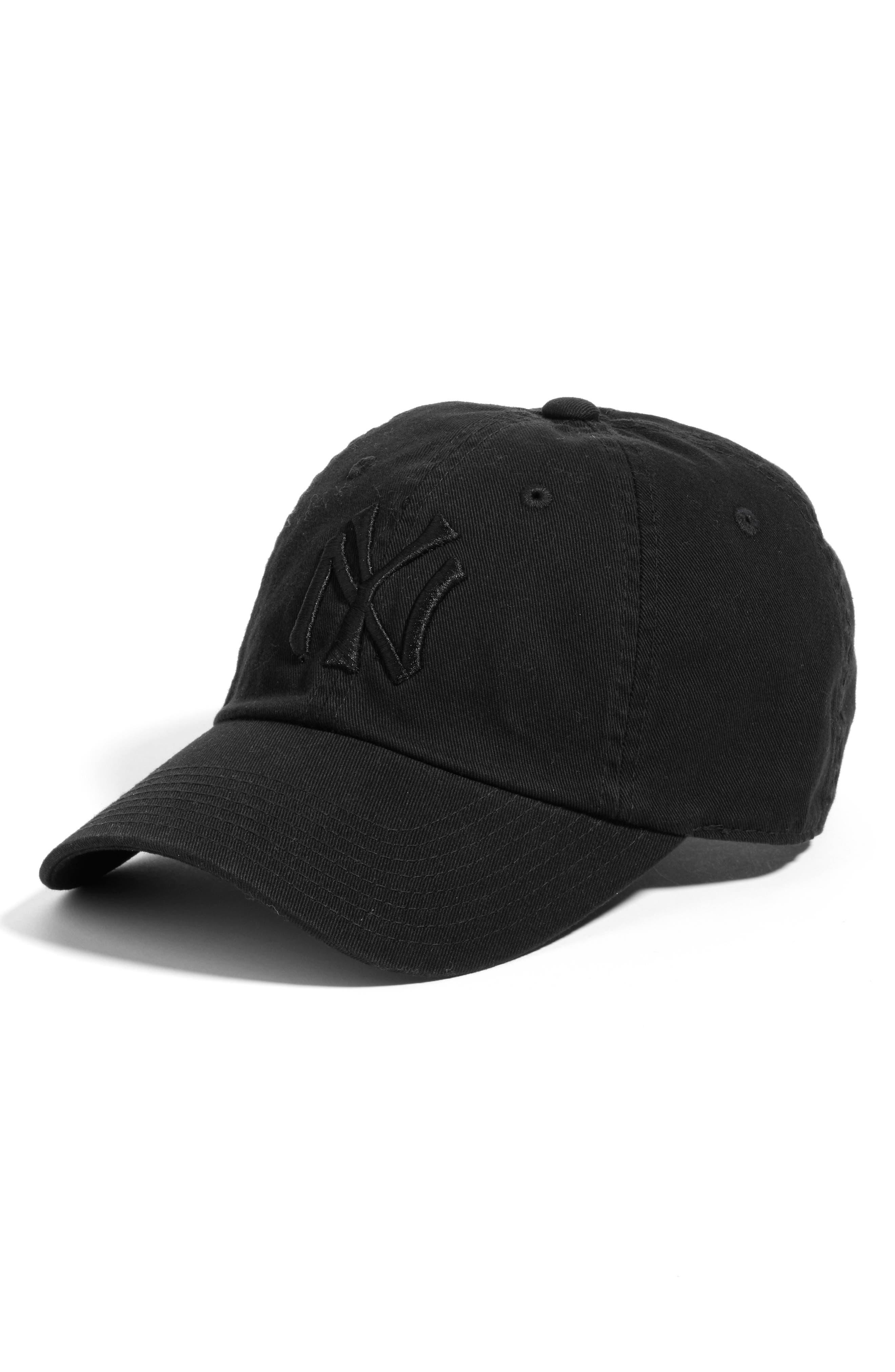Ballpark - New York Yankees Baseball Cap,                             Main thumbnail 1, color,                             Black