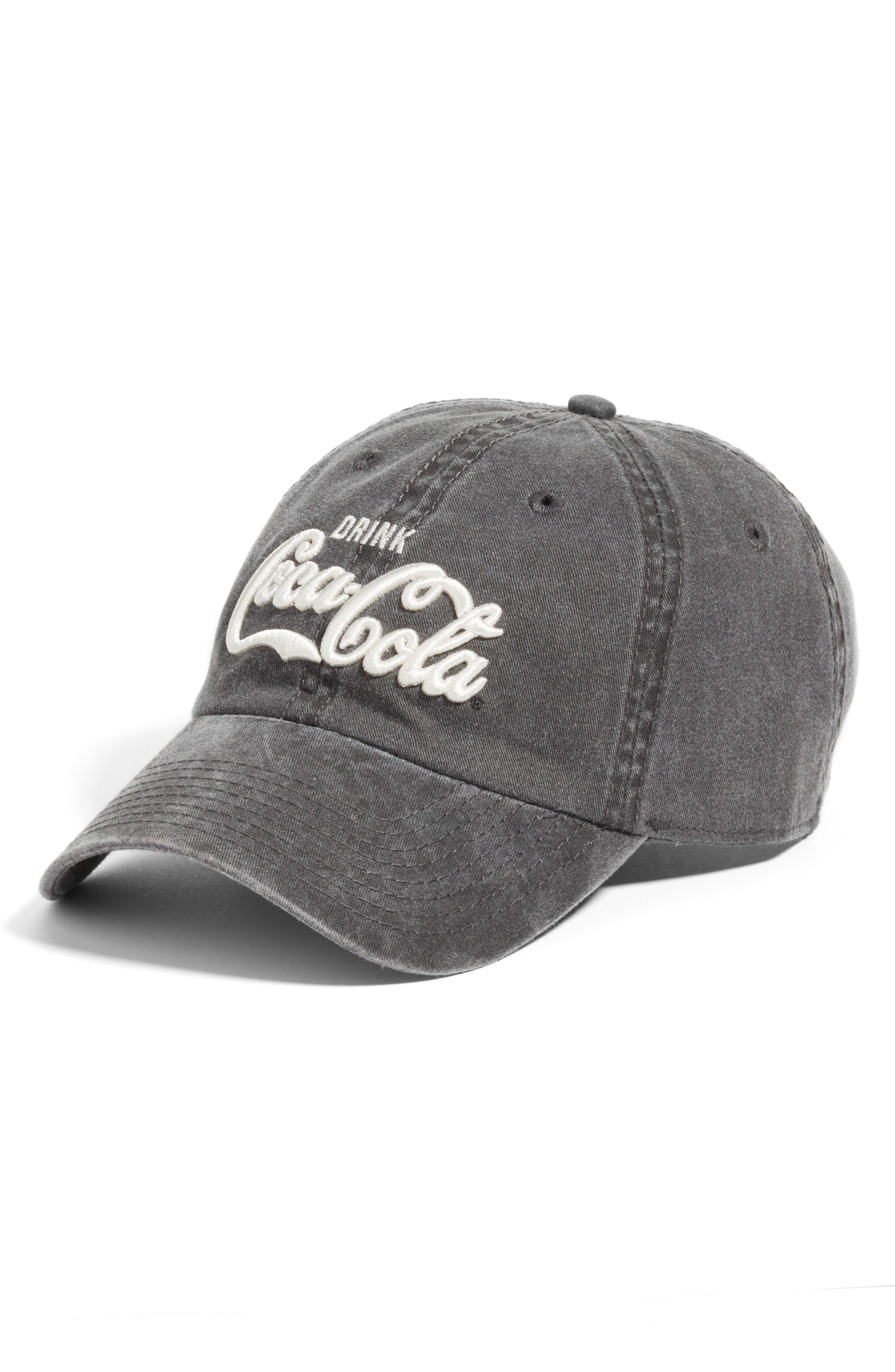 New Raglan - Coca-Cola Baseball Cap,                         Main,                         color, Black