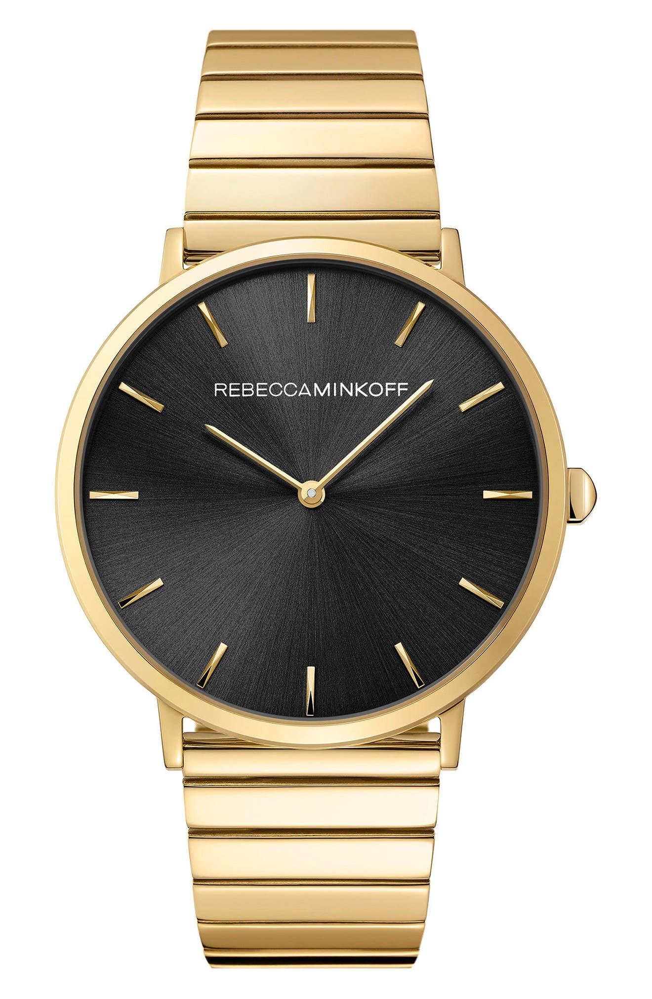 Major Bracelet Watch, 40mm,                         Main,                         color, Gold/ Black/ Gold