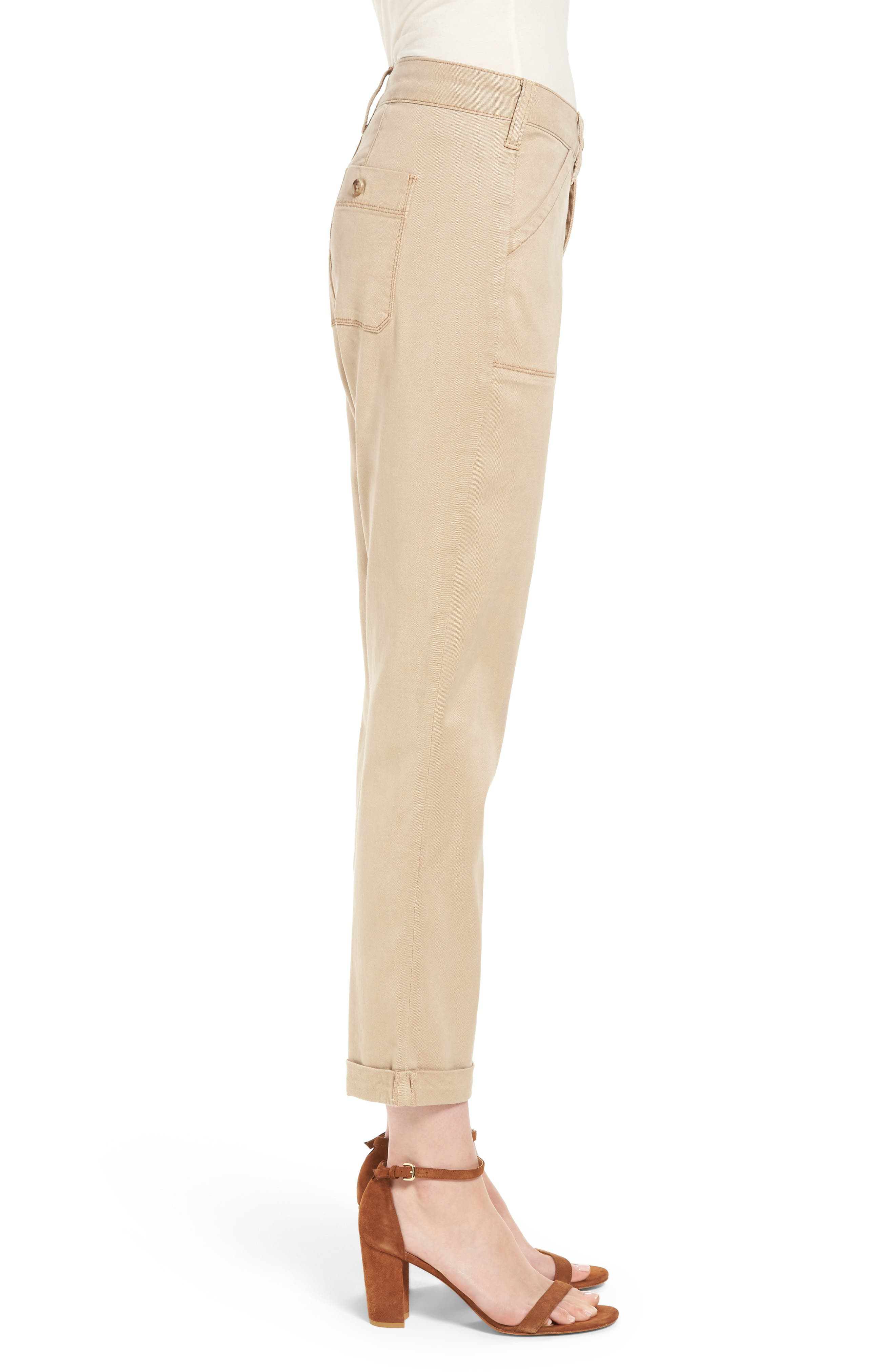 Reese Relaxed Chino Pants,                             Alternate thumbnail 3, color,                             Quicksand