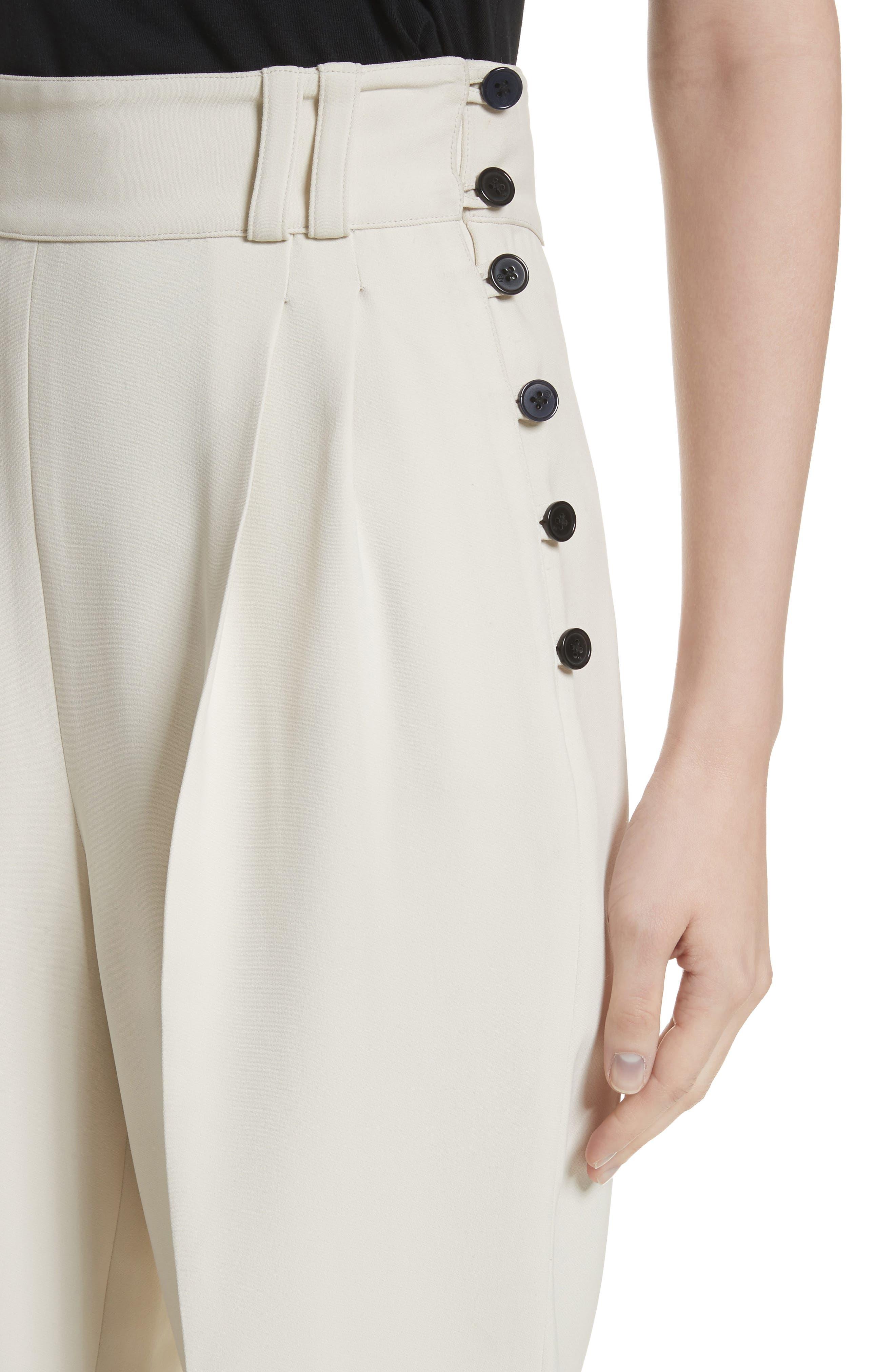 Side Button Crop Pants,                             Alternate thumbnail 5, color,                             Light Cement
