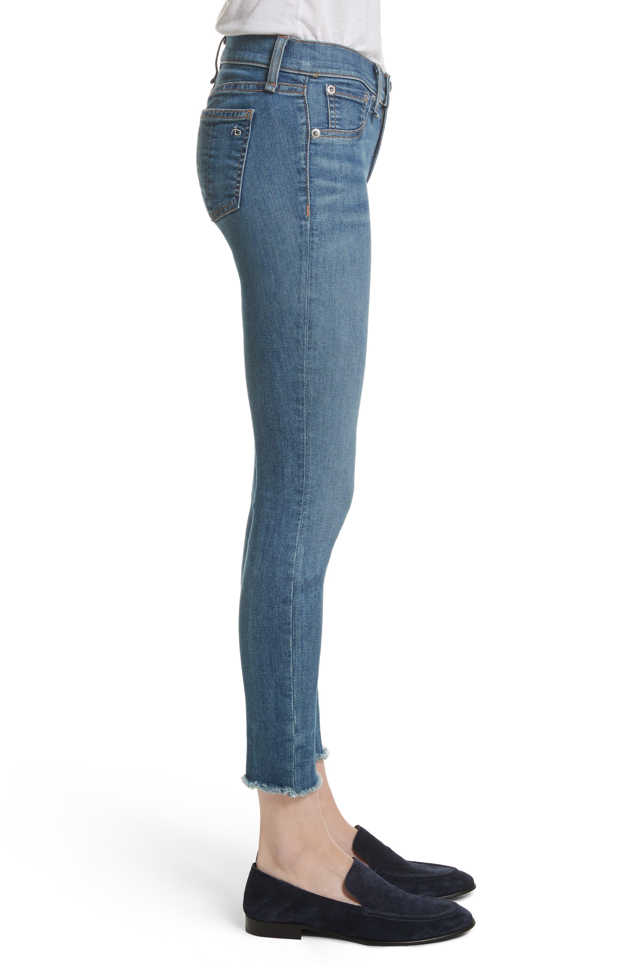 Alternate Image 4  - rag & bone/JEAN Skinny Jeans (Lucky Rouge)