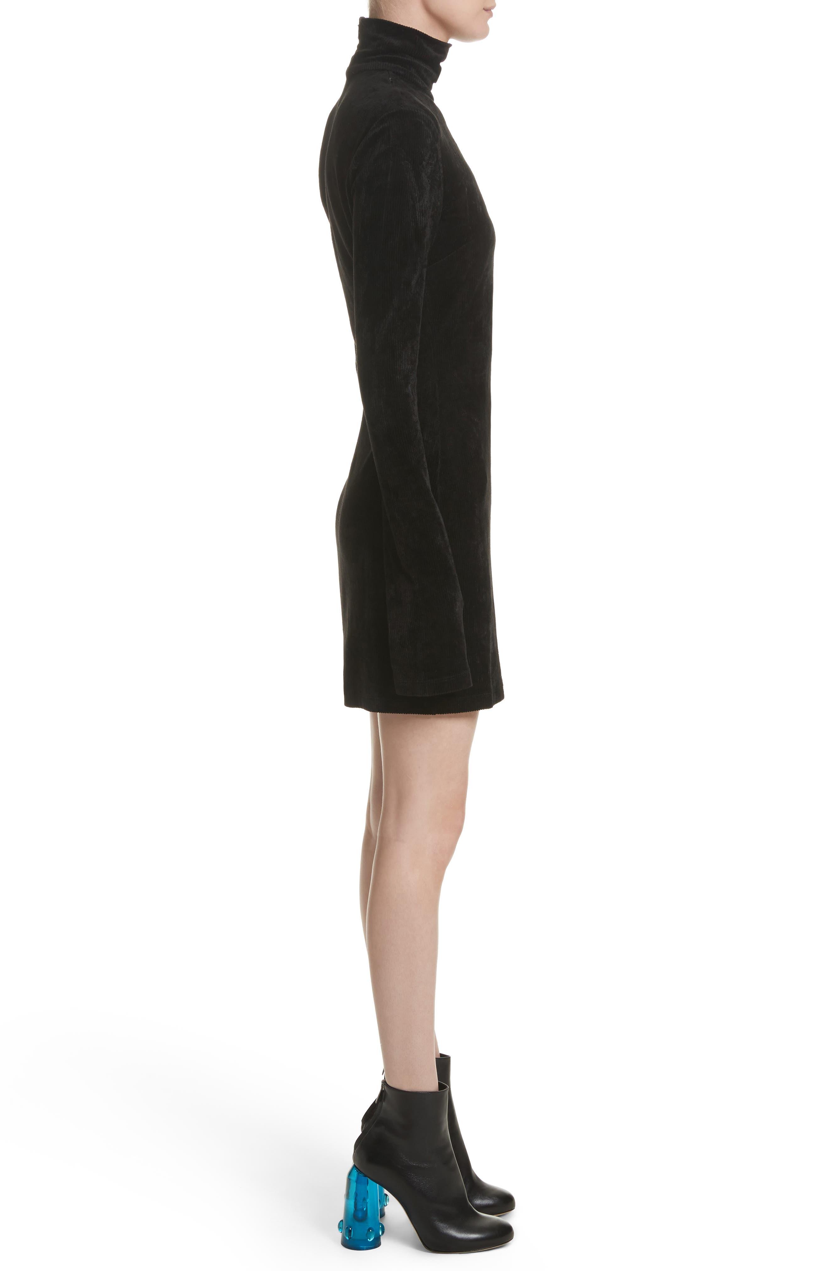 Abigail Funnel Neck Dress,                             Alternate thumbnail 6, color,                             Black