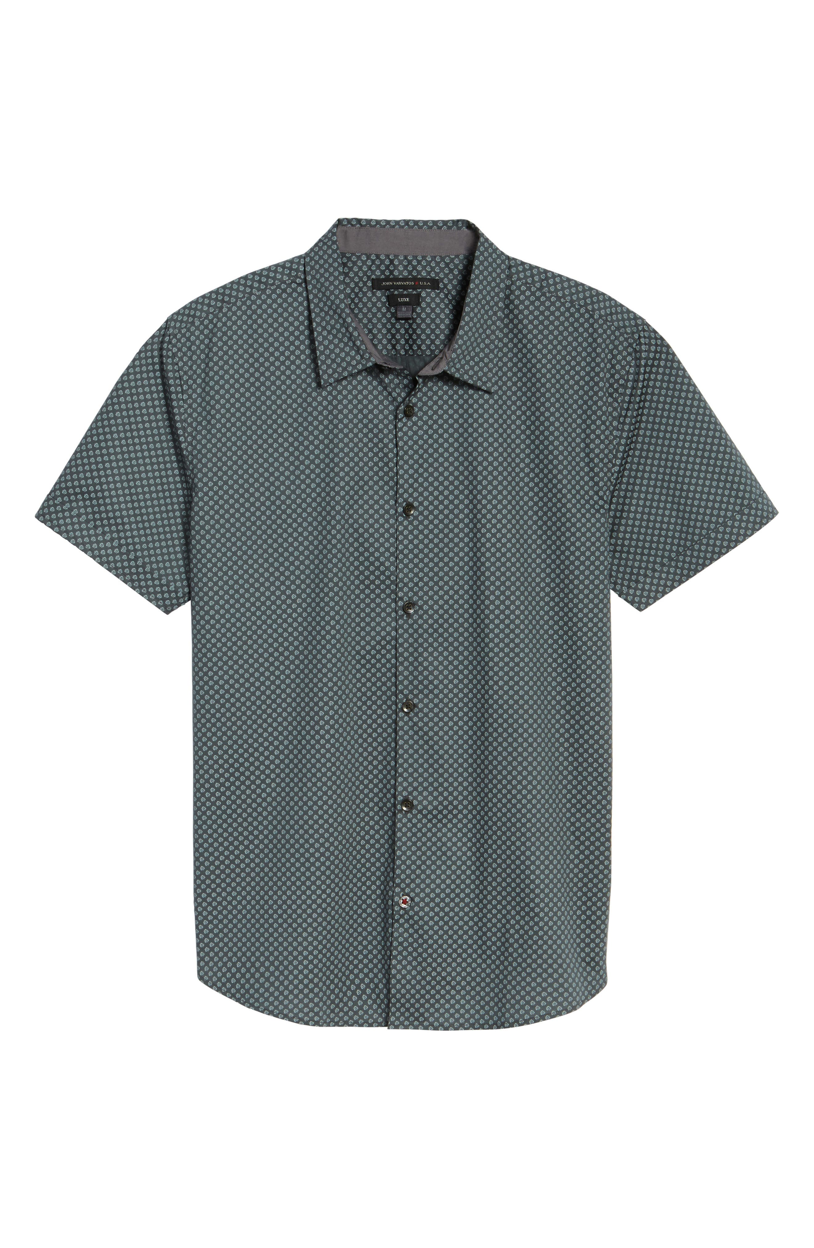 Alternate Image 5  - John Varvatos Star USA Trim Fit Print Sport Shirt