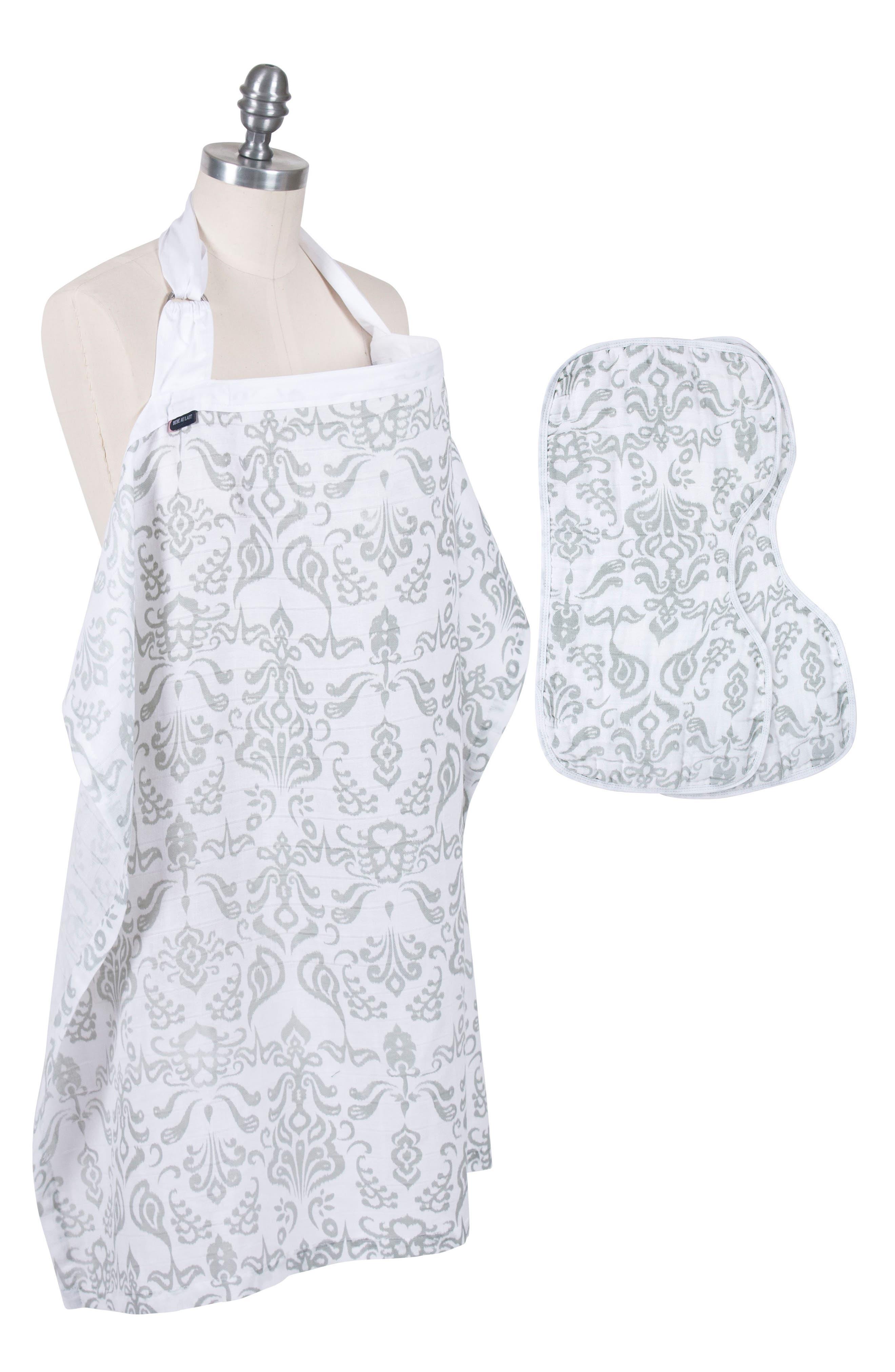 Bébé au Lait Muslin Nursing Cover & Burp Cloth Set