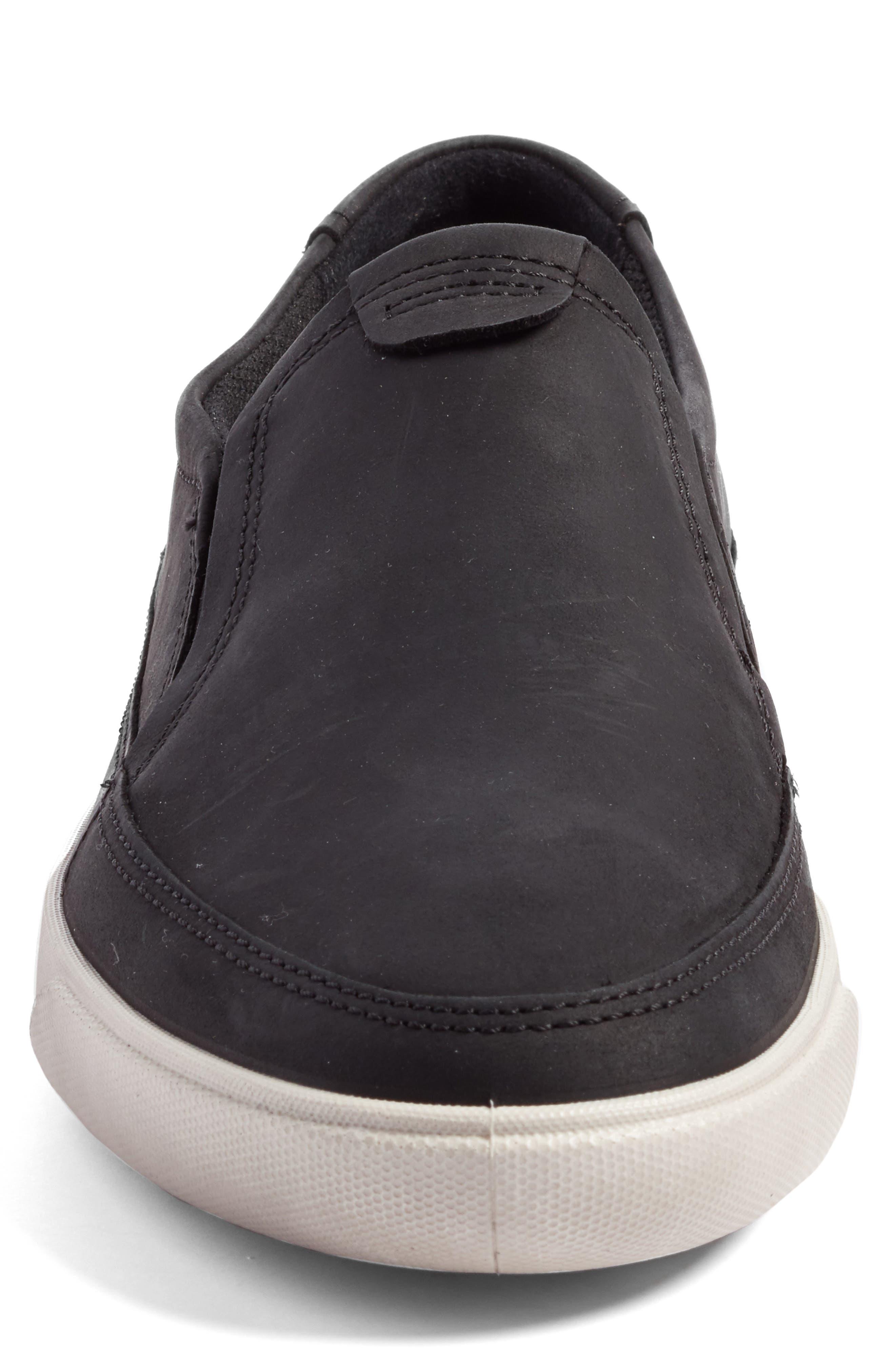'Gary' Slip-On,                             Alternate thumbnail 4, color,                             Black Leather