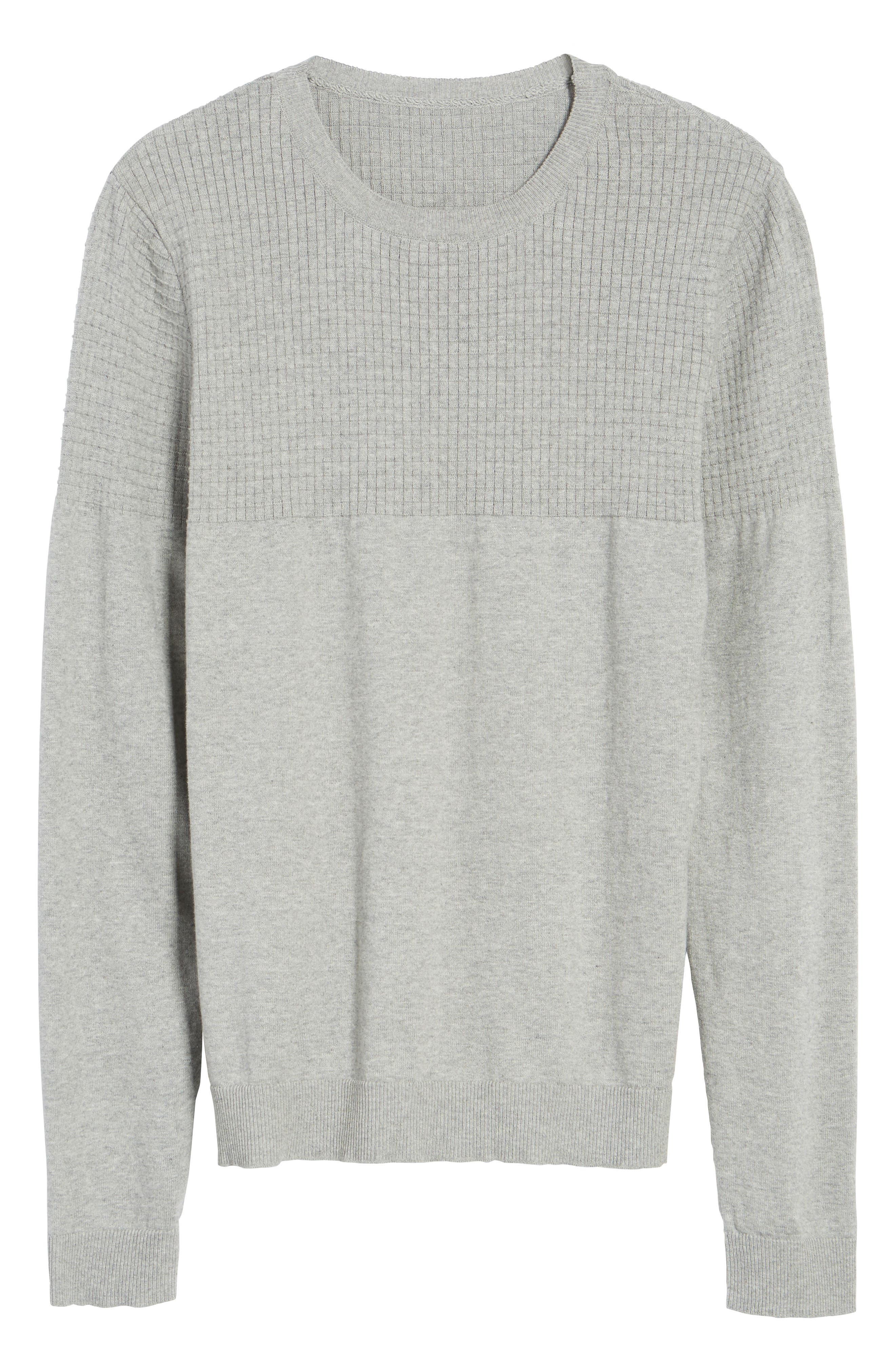 Textured Sweater,                             Alternate thumbnail 7, color,                             Grey