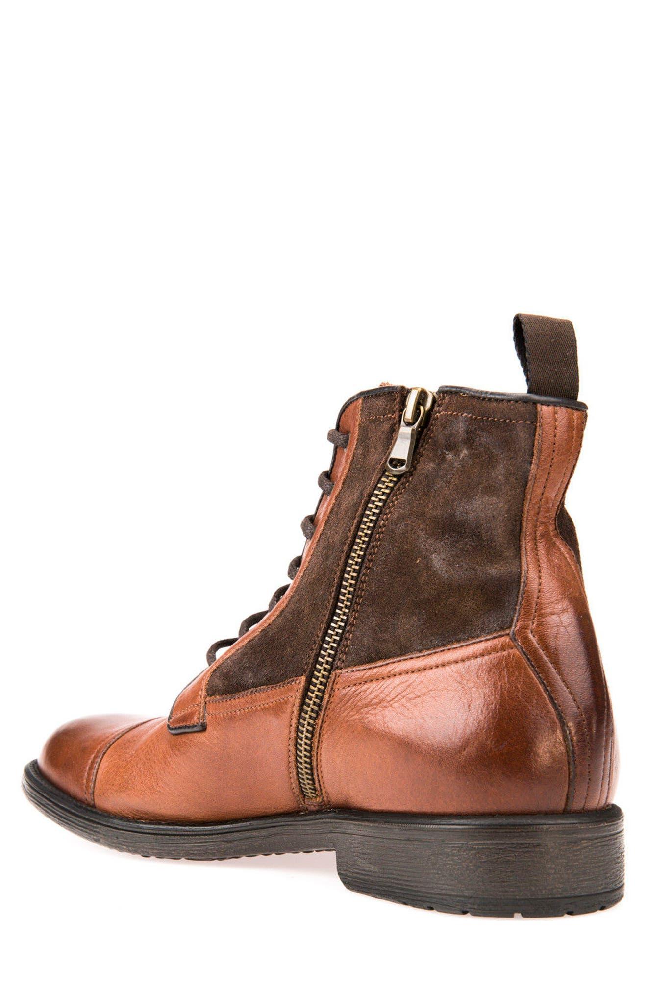 Jaylon 12 Cap-Toe Boot,                             Alternate thumbnail 2, color,                             Ebony