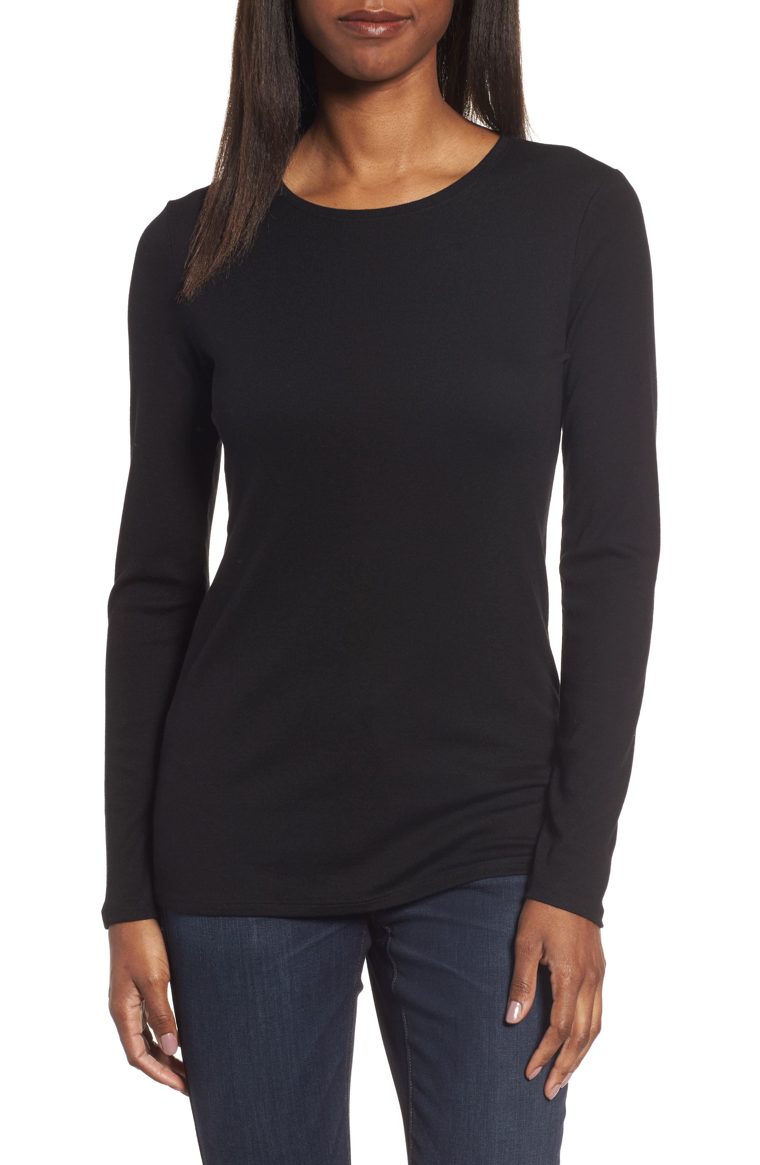 Alternate Image 1 Selected - Eileen Fisher Slim Crewneck Tee