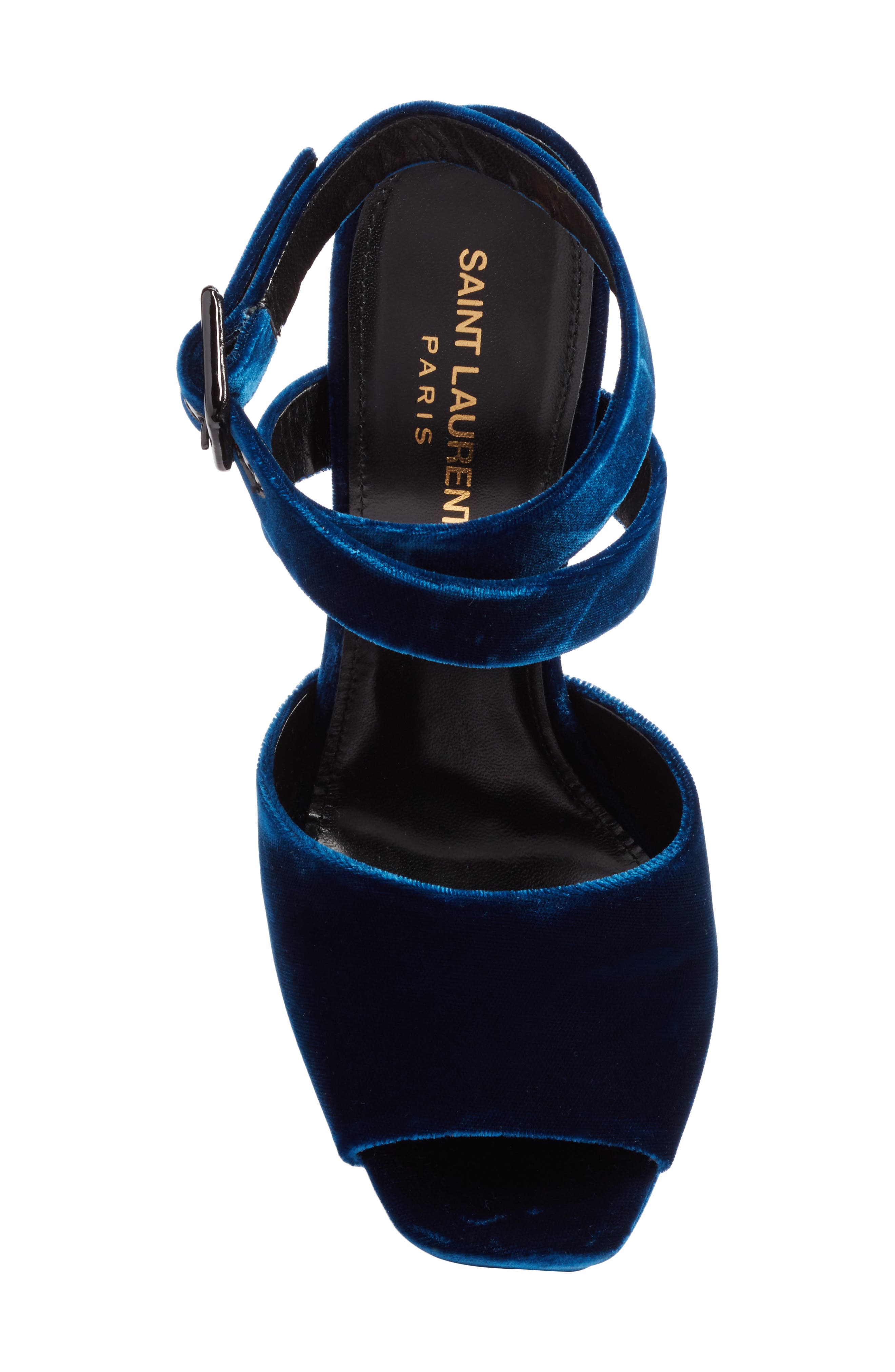 Debbie Platform Sandal,                             Alternate thumbnail 5, color,                             Blue