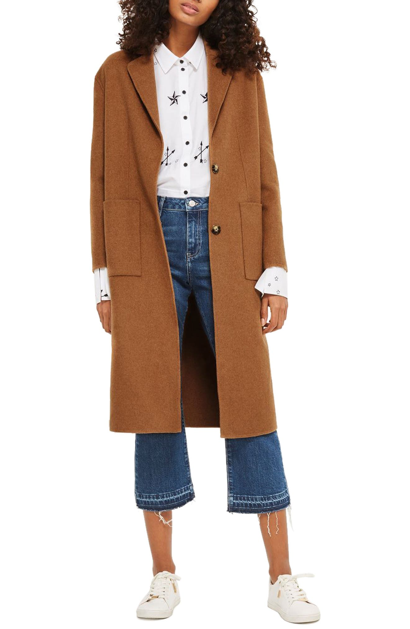 Alternate Image 1 Selected - Topshop Long Coat