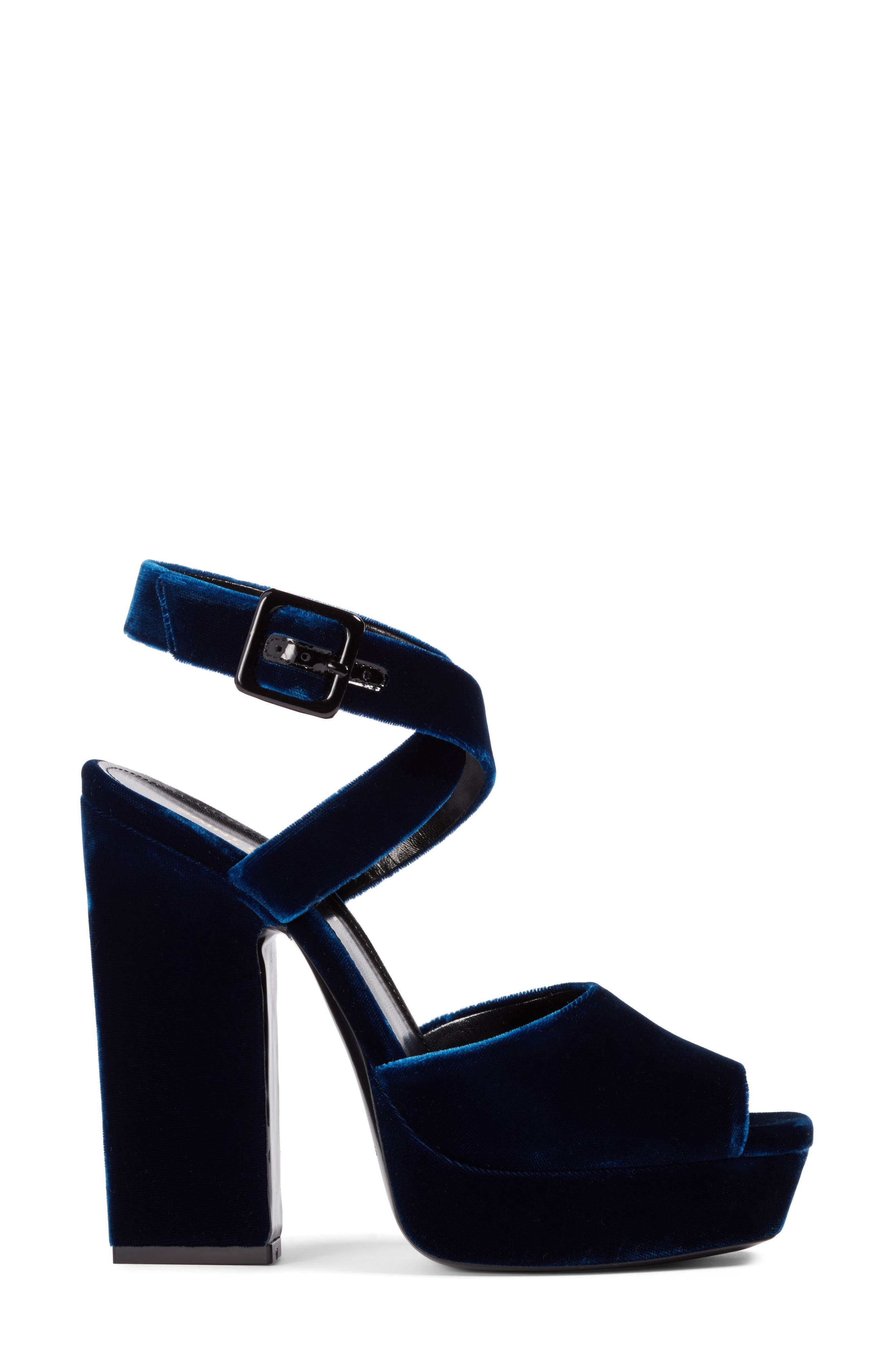 Debbie Platform Sandal,                             Alternate thumbnail 3, color,                             Blue