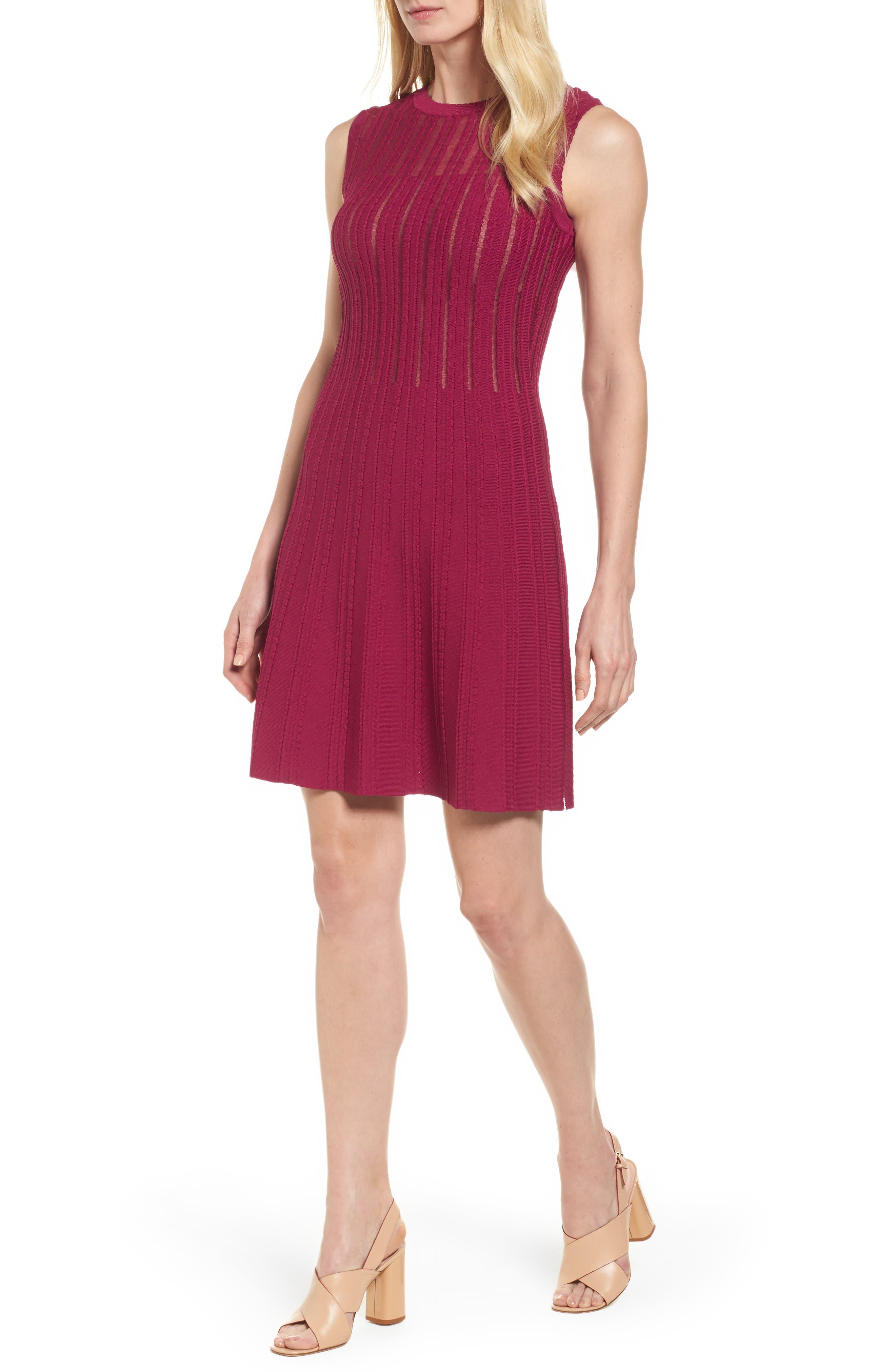 Anne Klein Knit Fit & Flare Dress