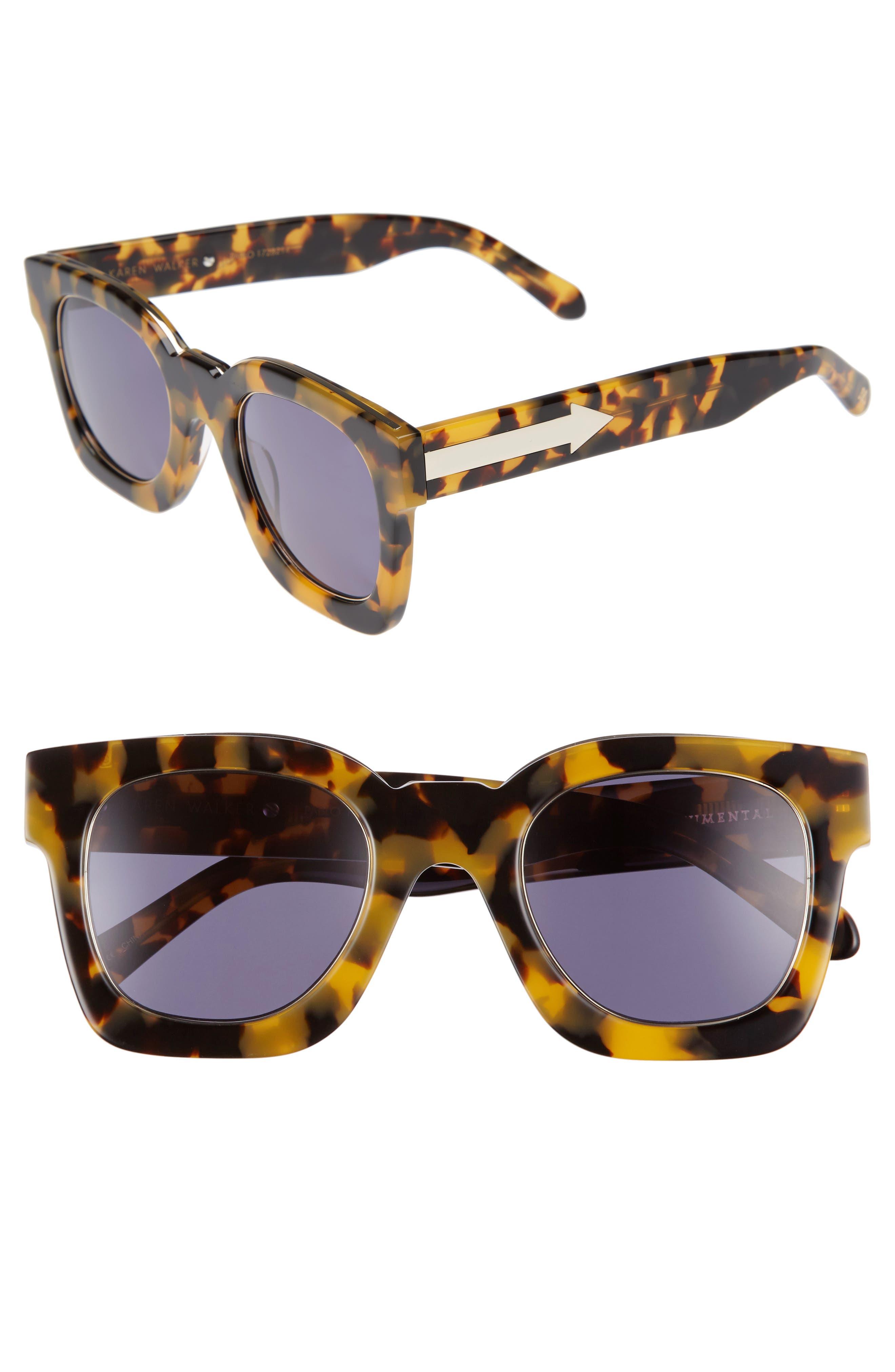 x Monumental Pablo 50mm Polarized Sunglasses,                         Main,                         color, Crazy Tortoise
