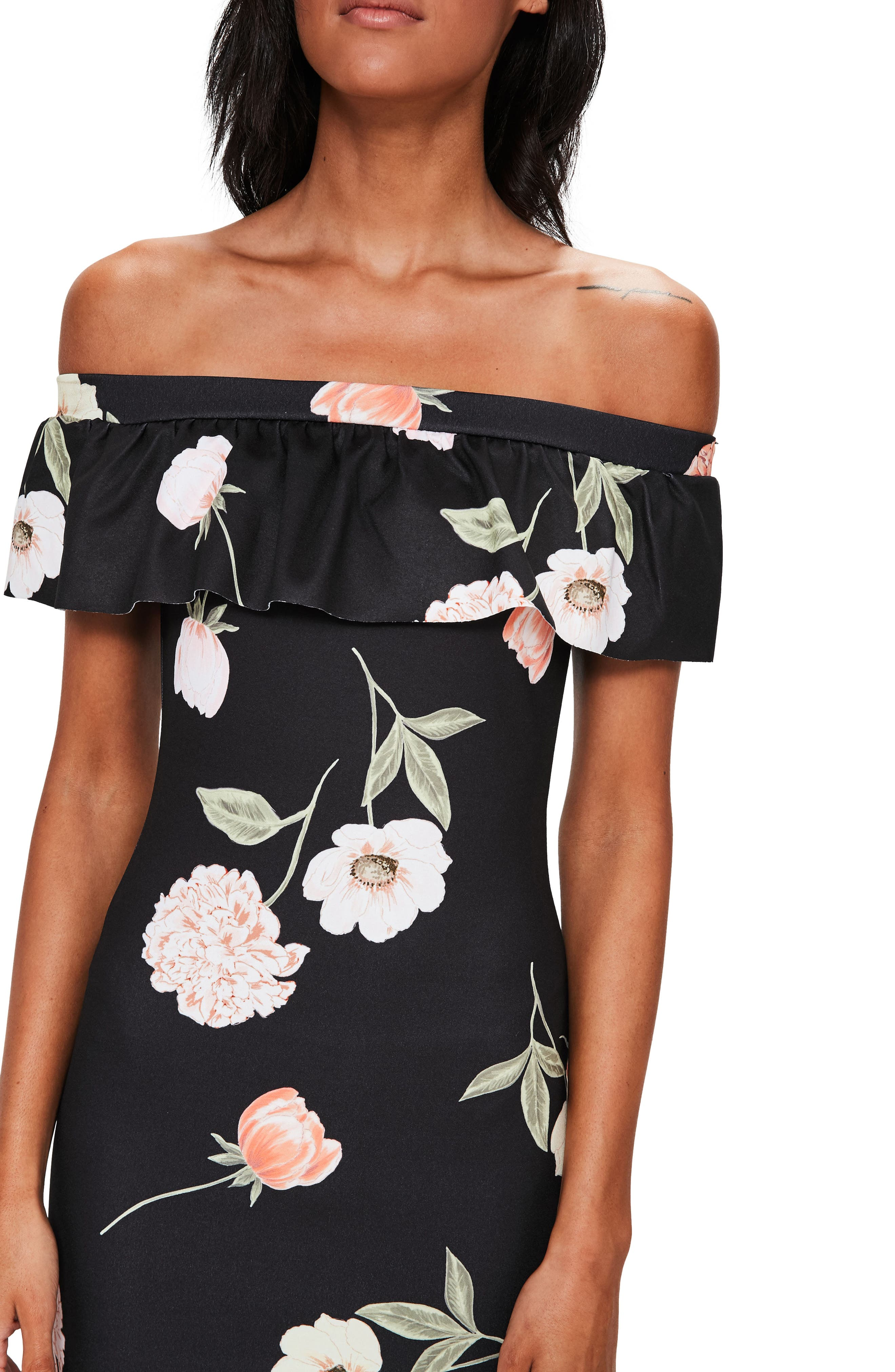 Alternate Image 3  - Missguided Bardot Off the Shoulder Midi Dress