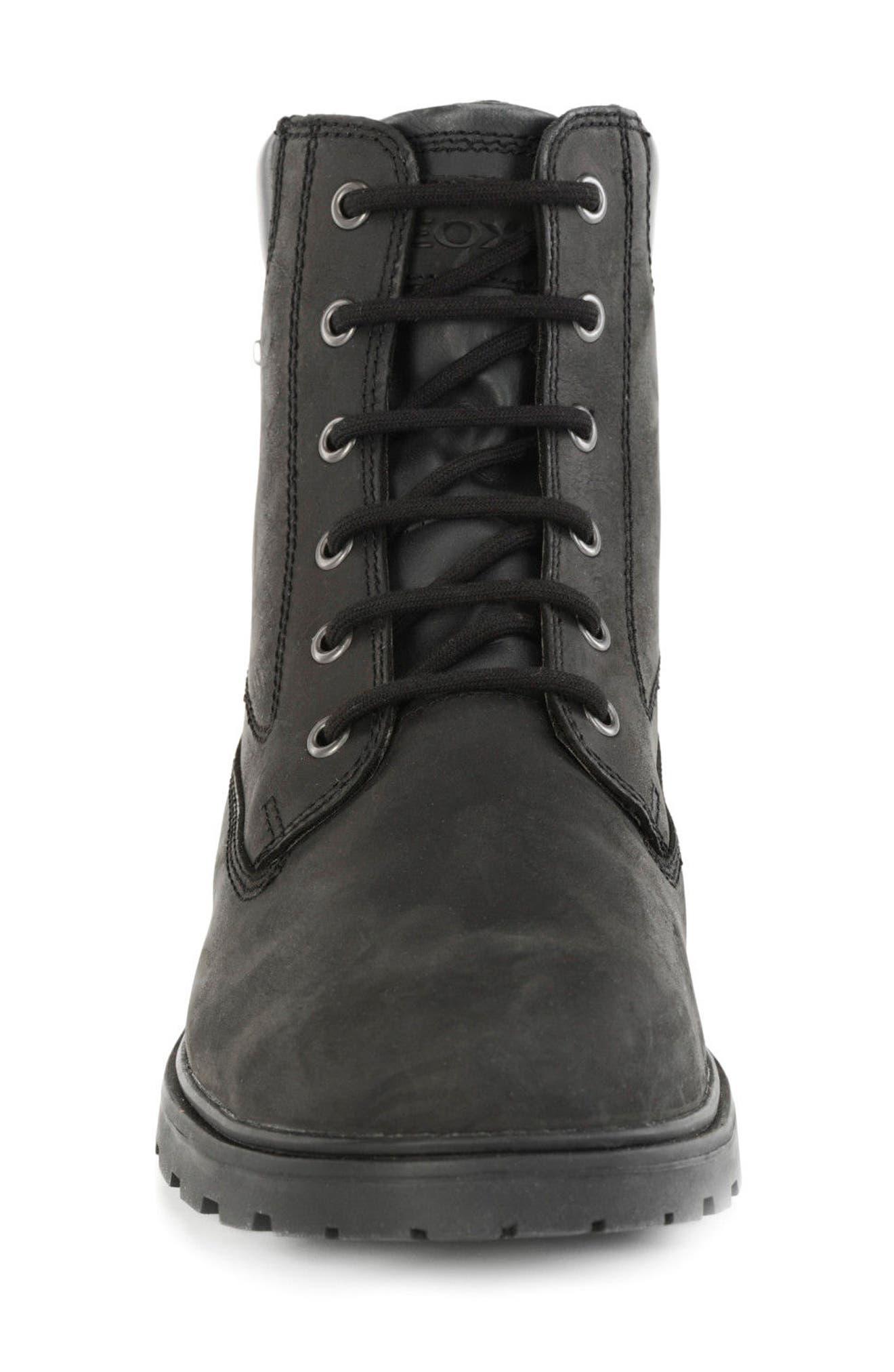 Makim Waterproof Plain Toe Boot,                             Alternate thumbnail 4, color,                             Black