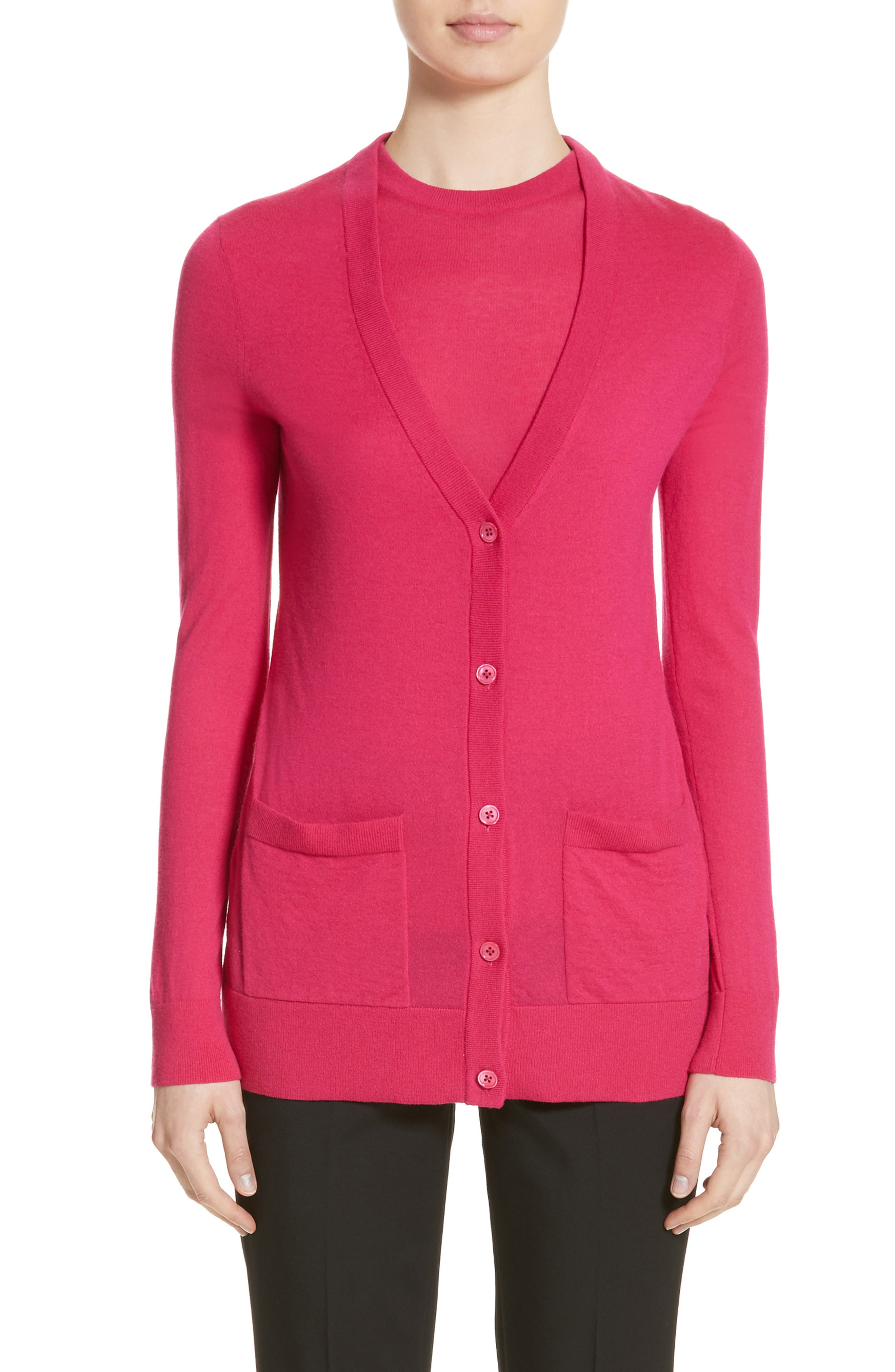 Alternate Image 1 Selected - Michael Kors Featherweight Cashmere Cardigan