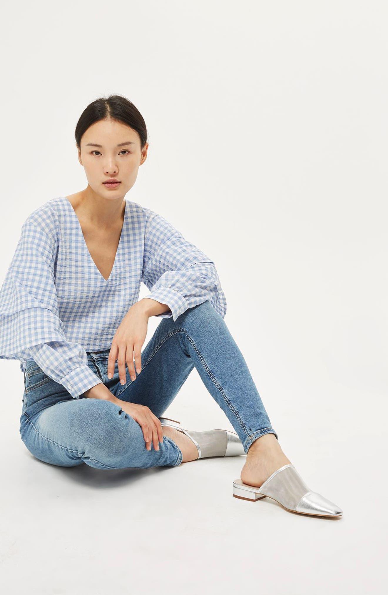 Alternate Image 2  - Topshop Jamie High Waist Skinny Jeans (Tall)