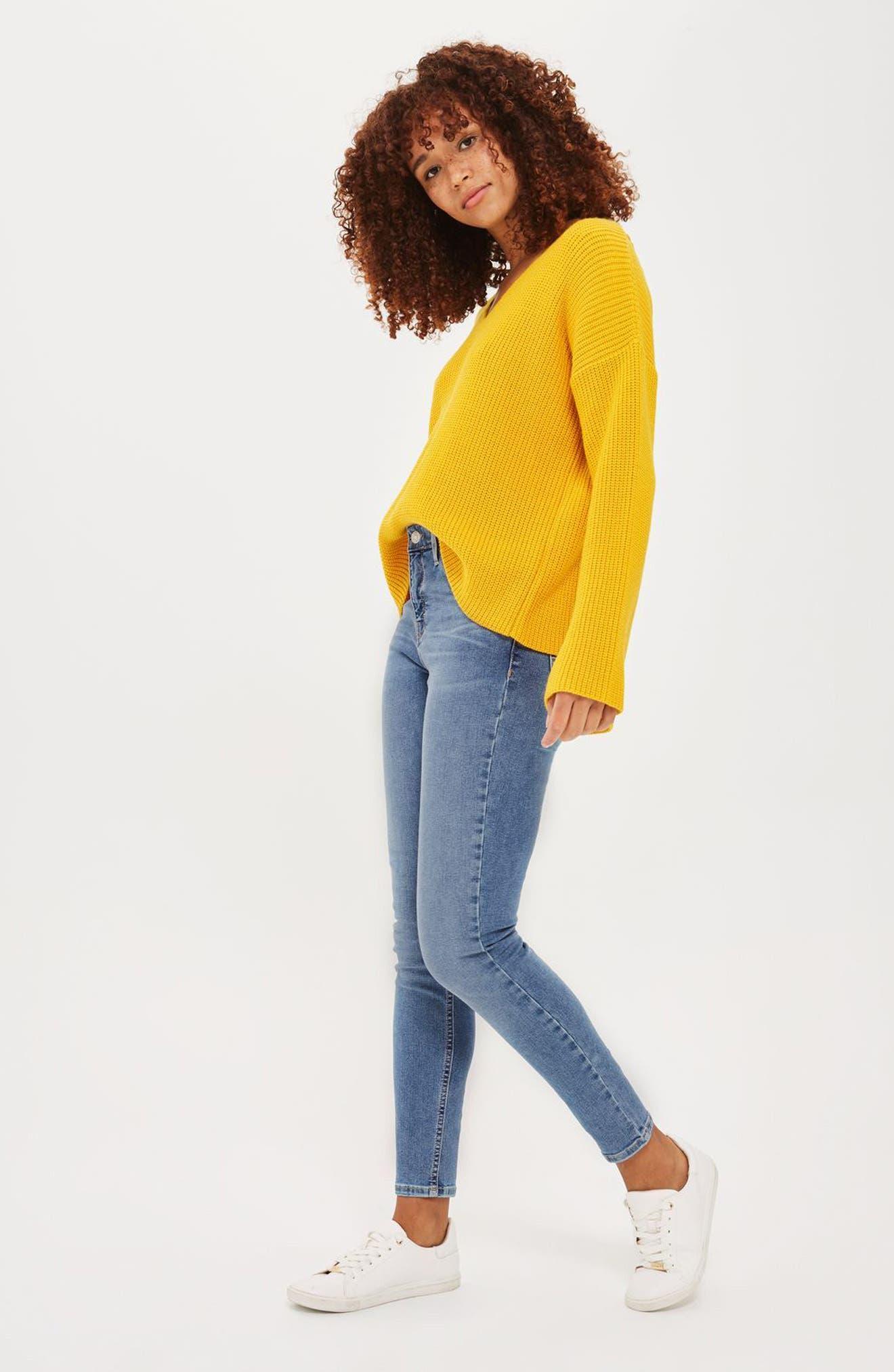Alternate Image 2  - Topshop Jamie High Waist Skinny Jeans